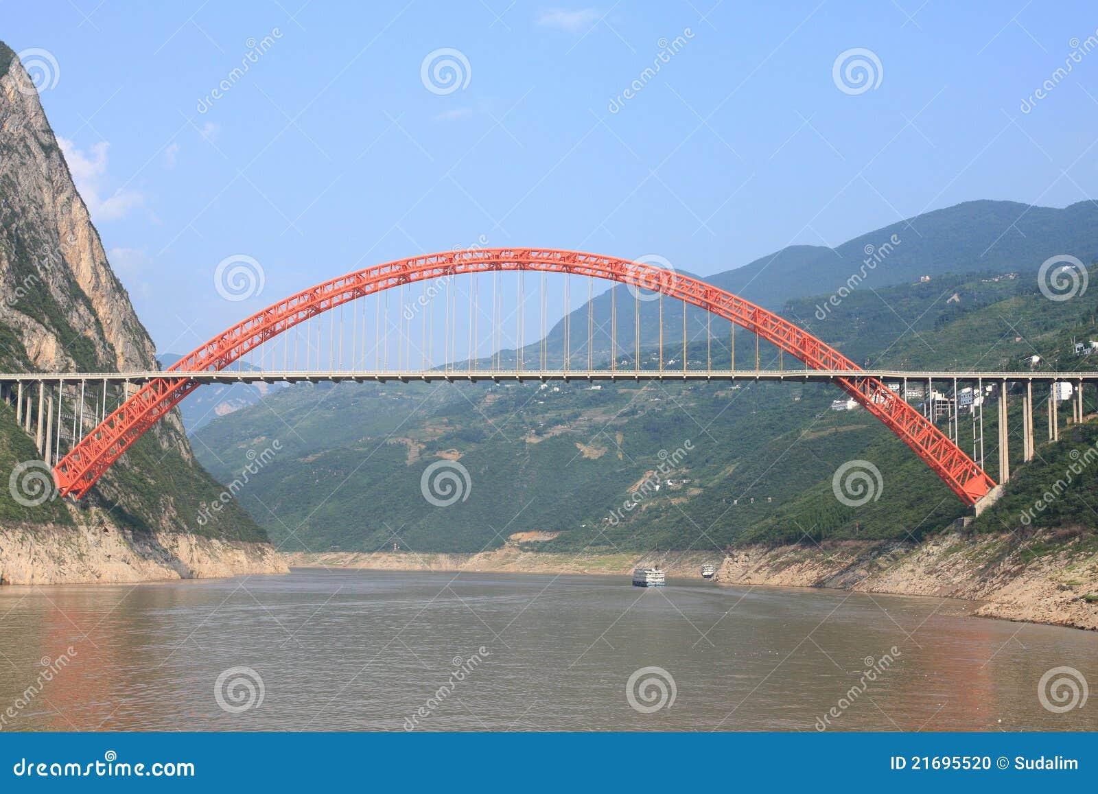 структура красного цвета моста