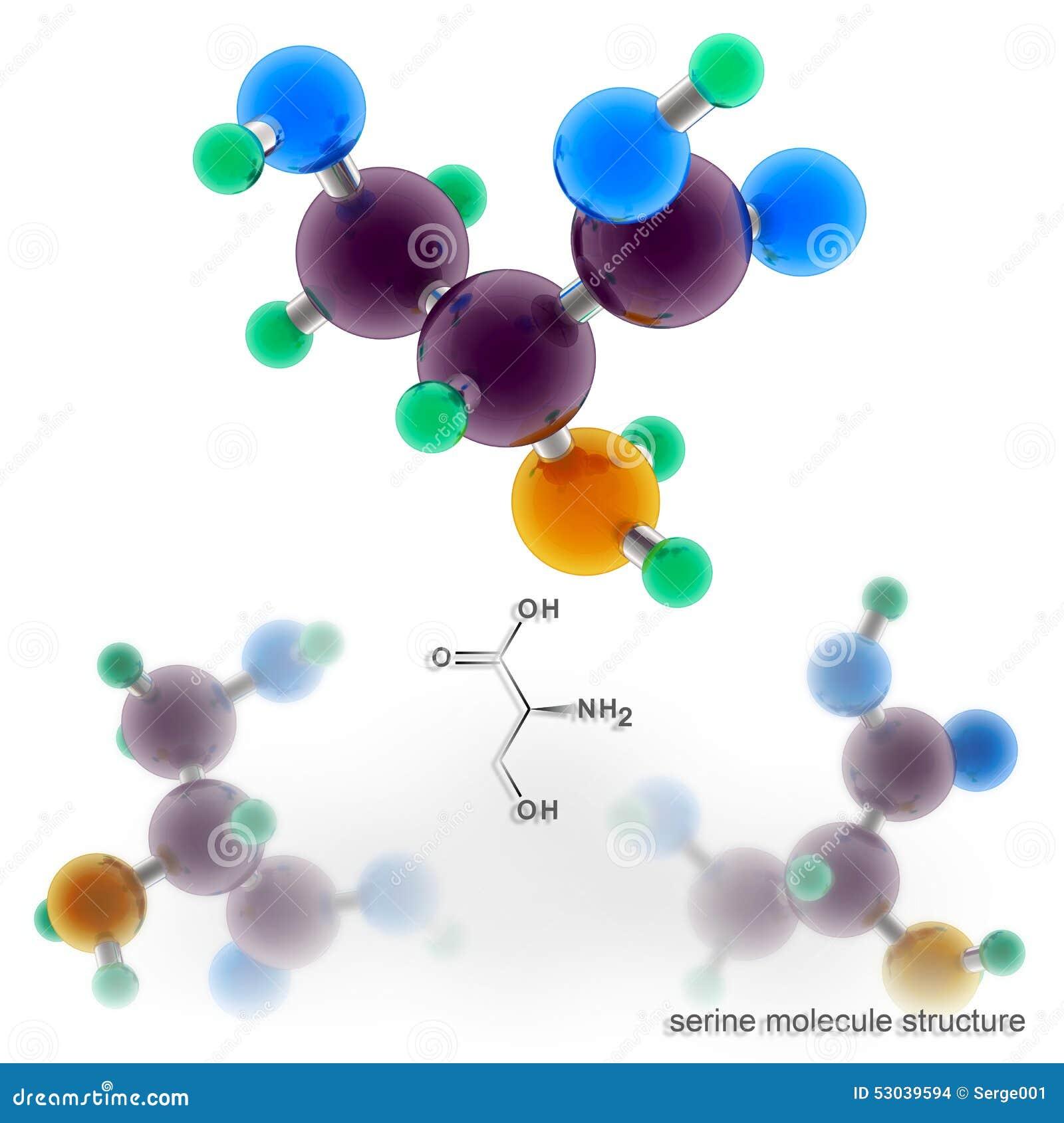 Структура молекулы серина
