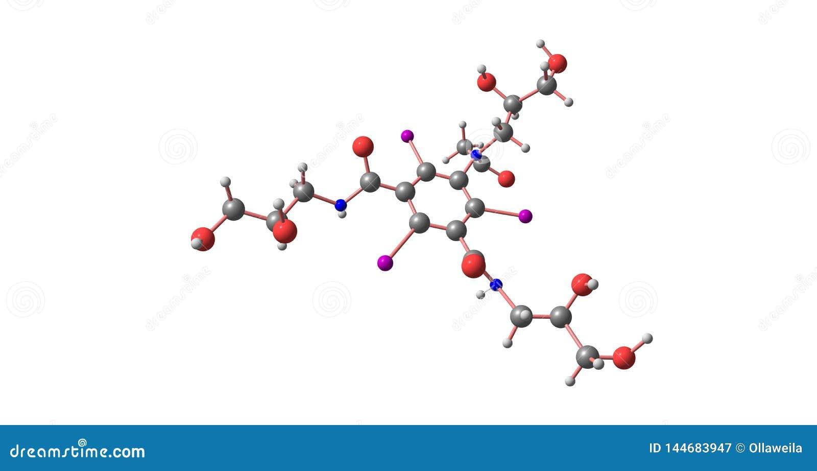 Структура Iohexol молекулярная изолированная на белизне