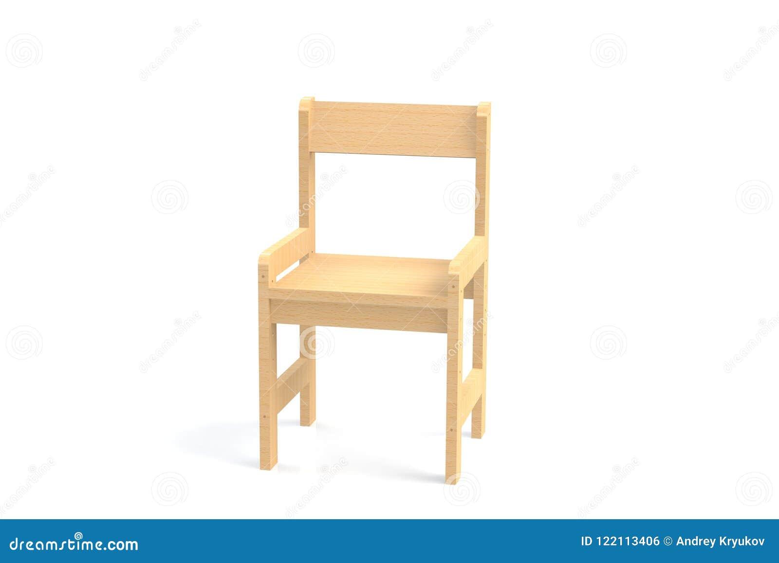 стул маленького ребенка деревянный высокий на белой