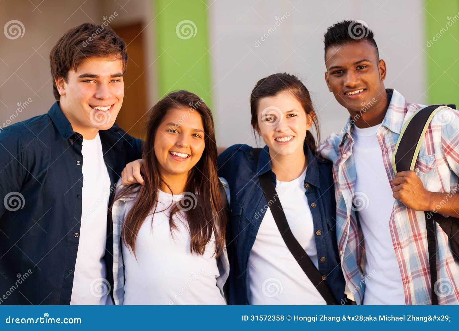 Студенты школы группы