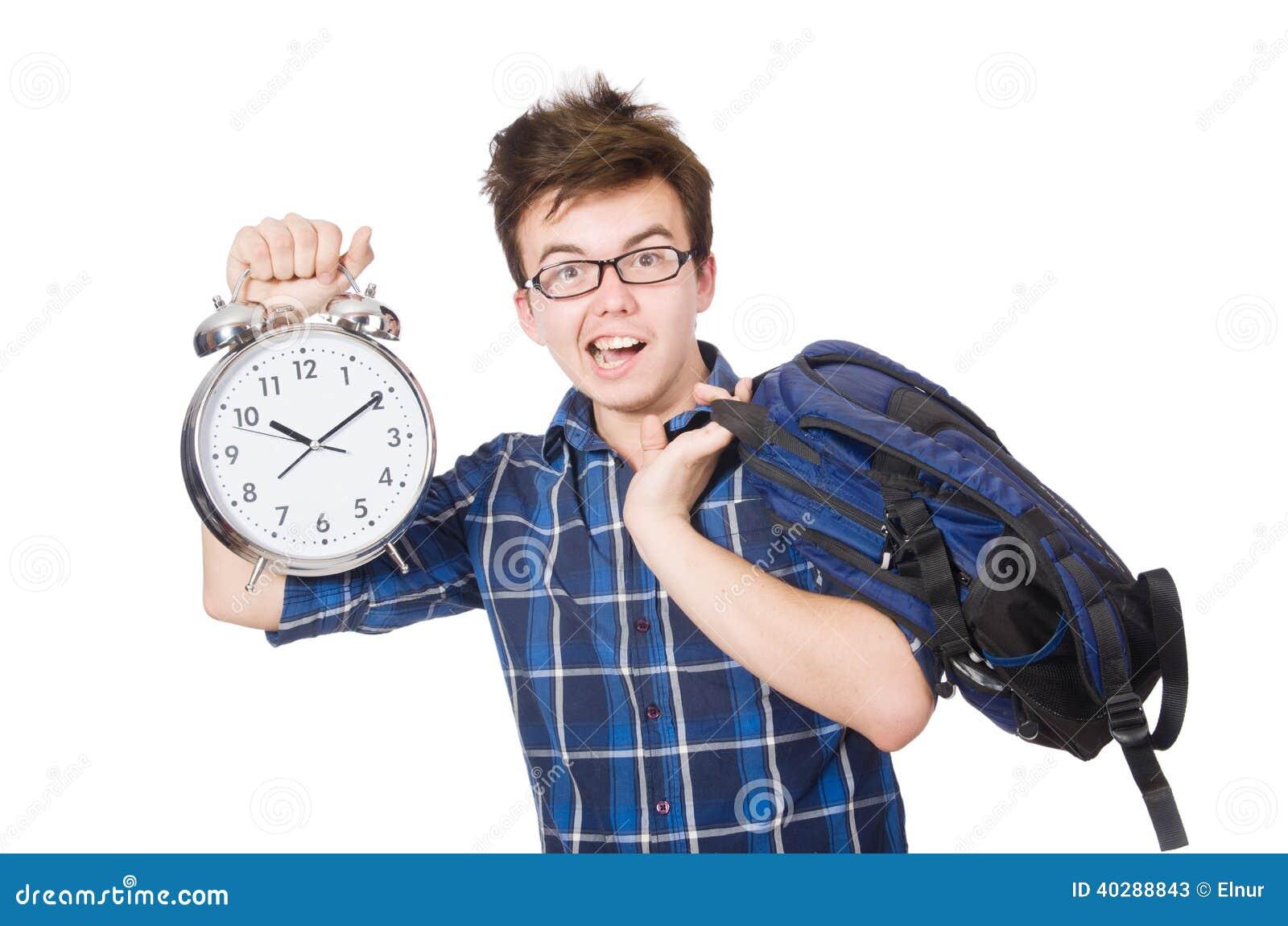 Студент пропуская его изучая крайние сроки