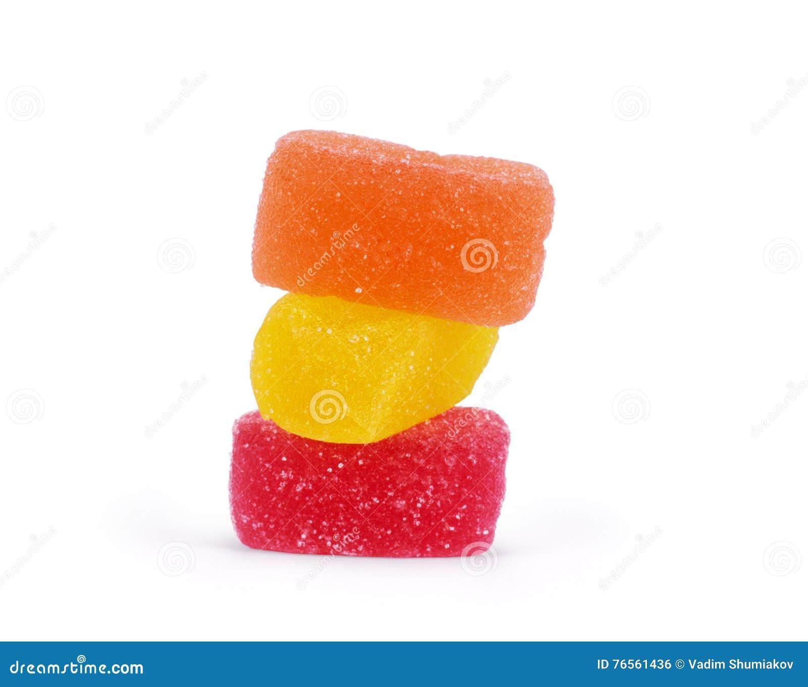 студень конфет цветастый изолированный На белизне