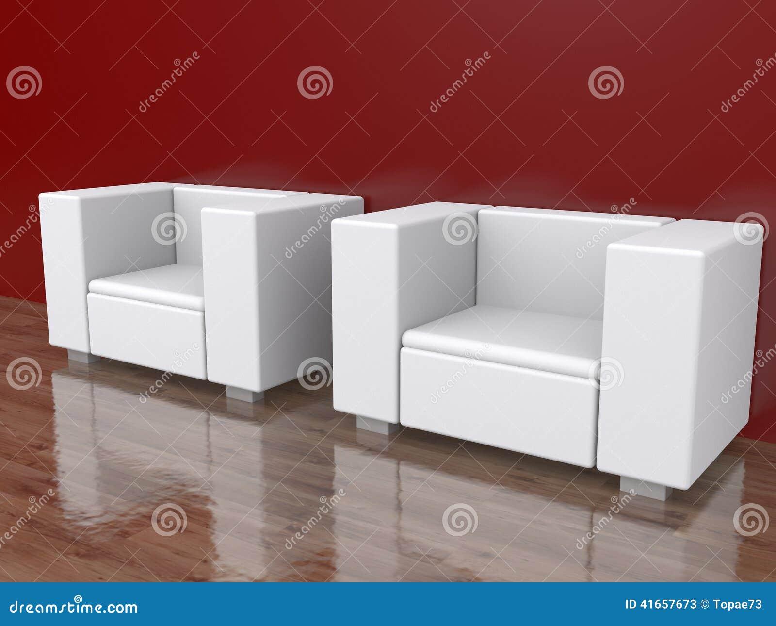 2 стуль в пустой комнате