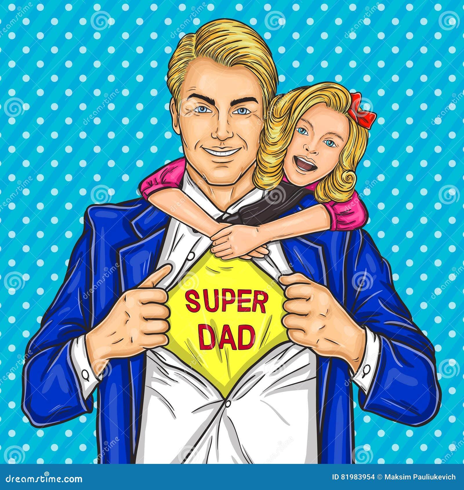 Супер папа и его любимая дочь