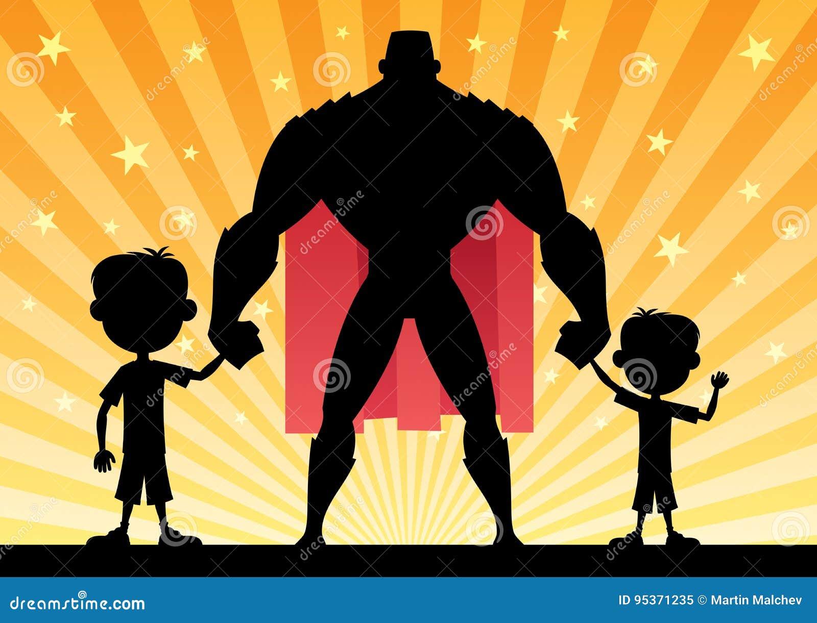 Супер папа с 2 сыновььями