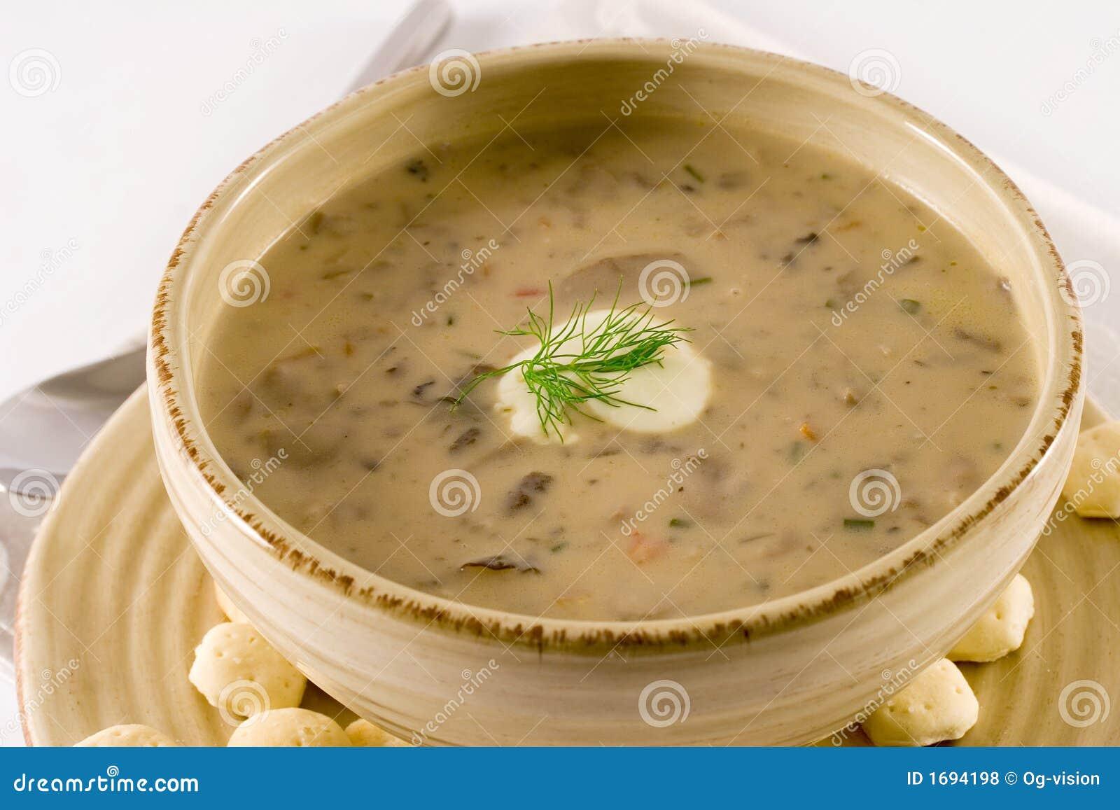 Суп с замороженными маслятами рецепт