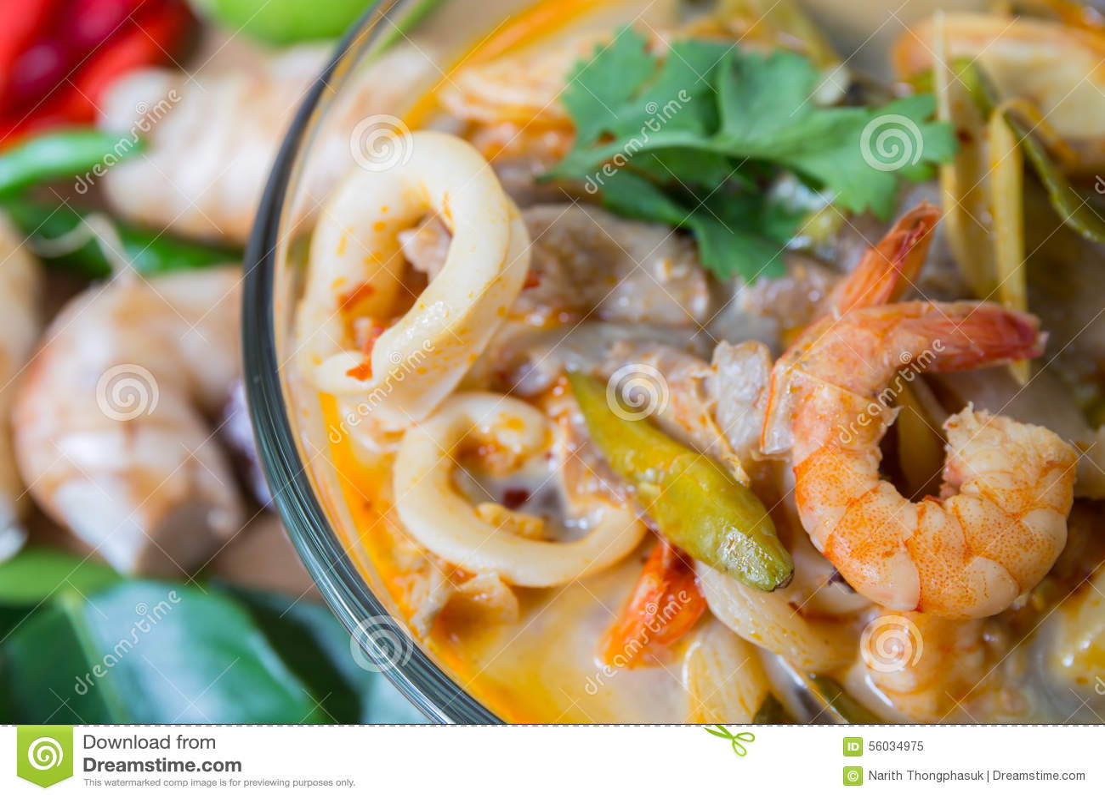 Суп специи Тома yum тайский, тайская еда