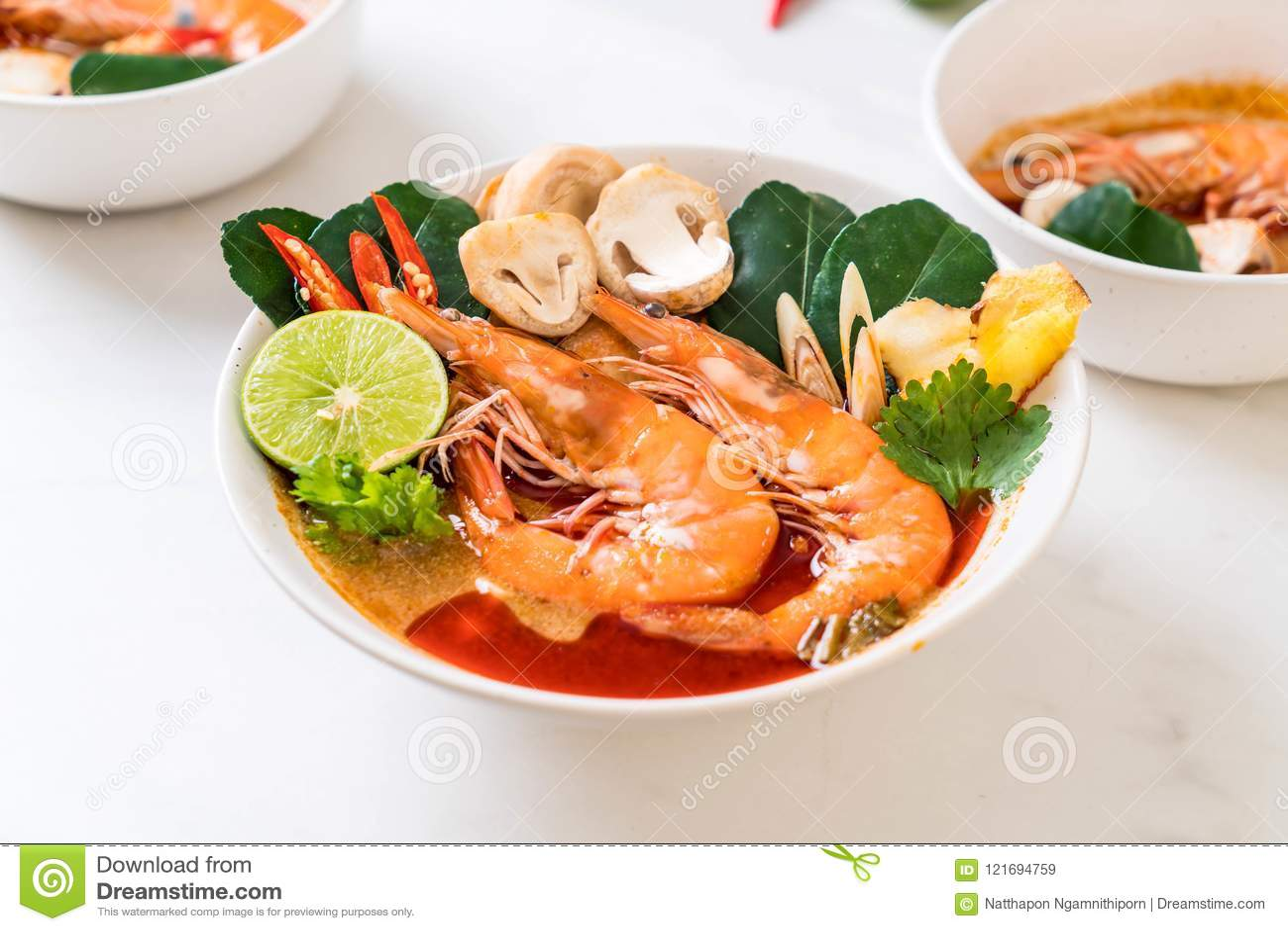 Суп Тома Yum Goong пряный кислый