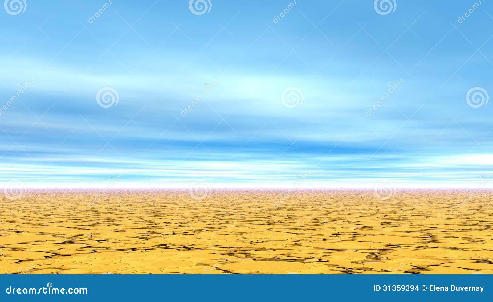 Сухая ясная коричневая земля в
