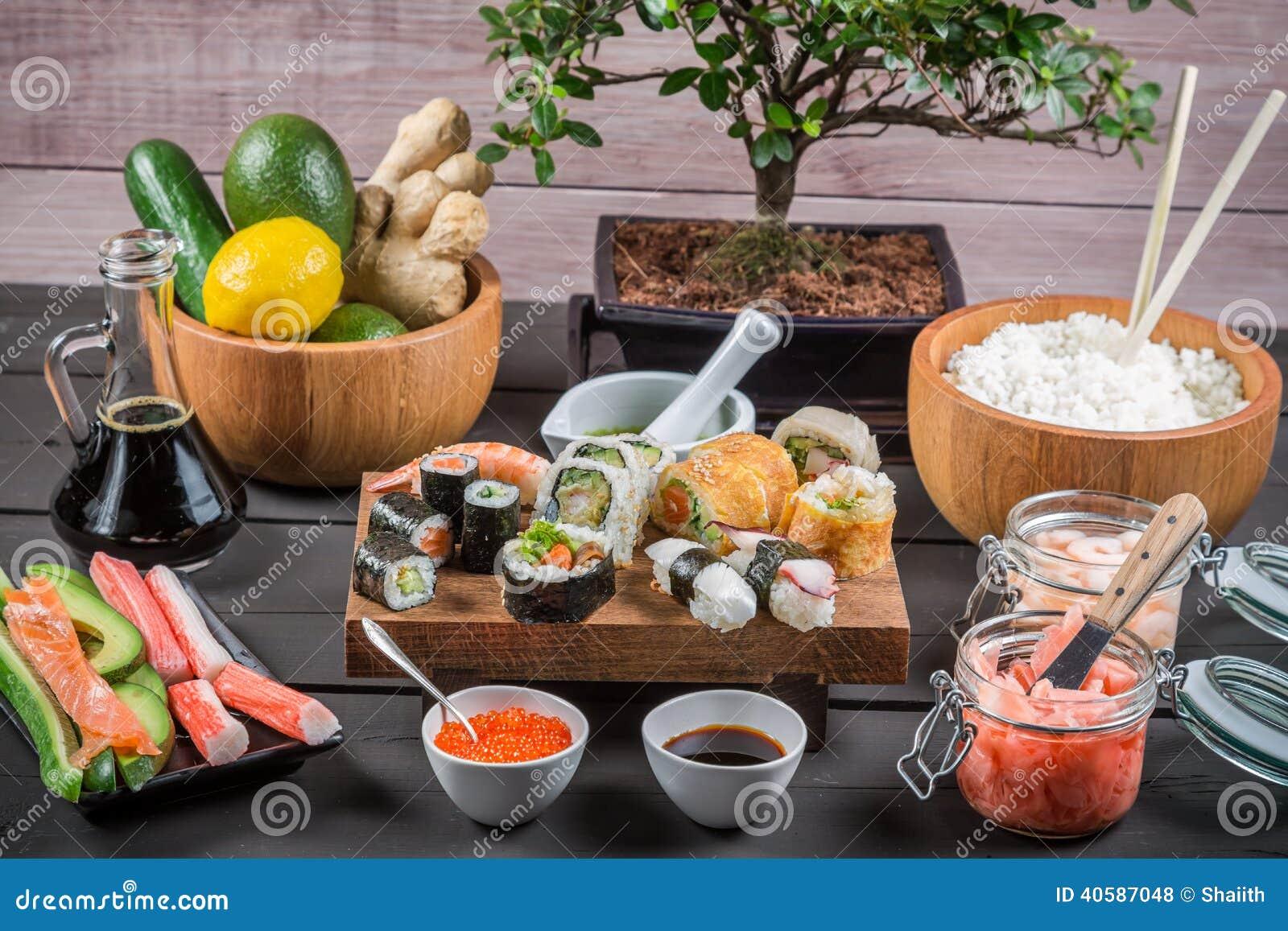 Суши с свежими ингридиентами