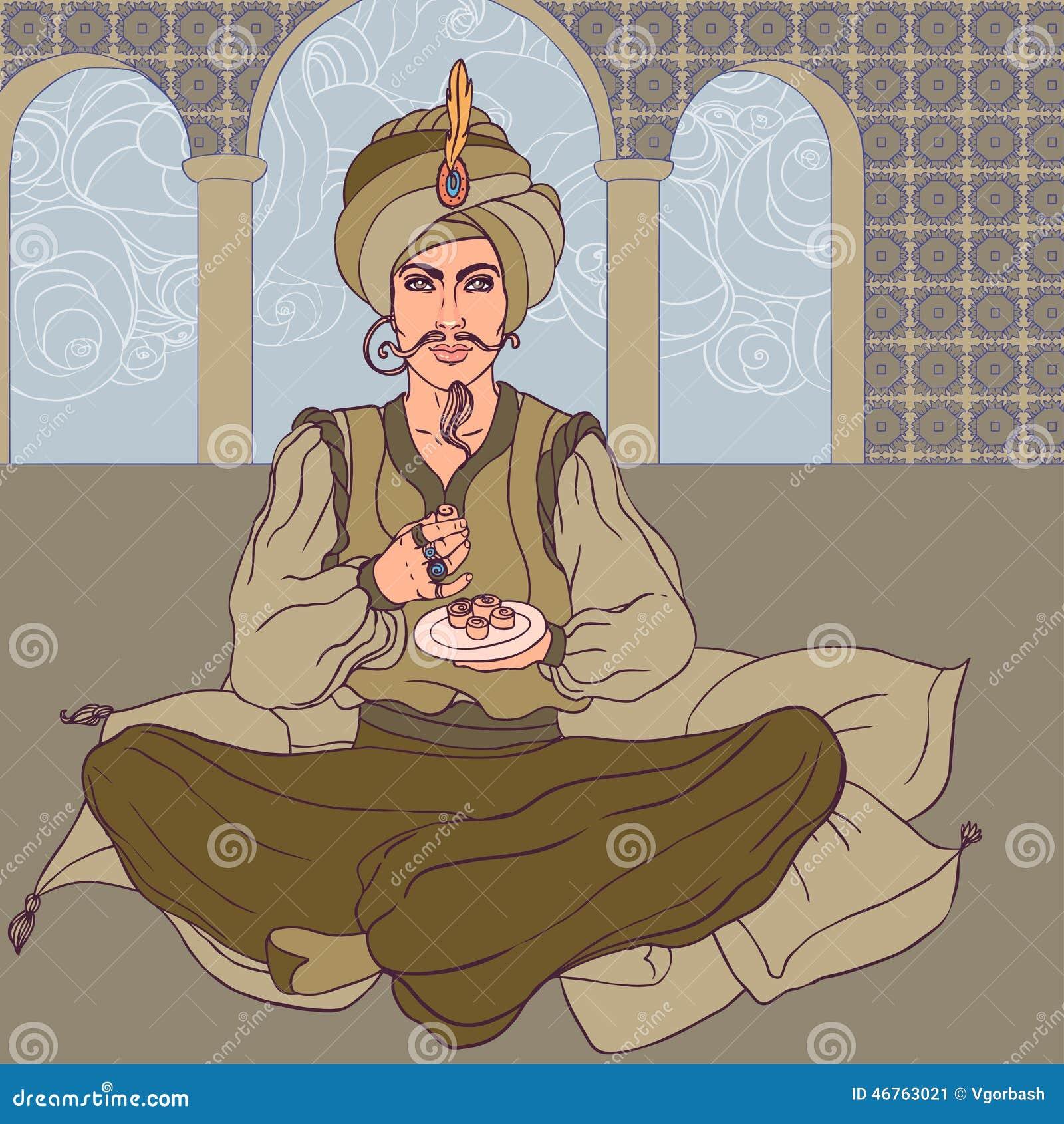 Как рисовать только султана