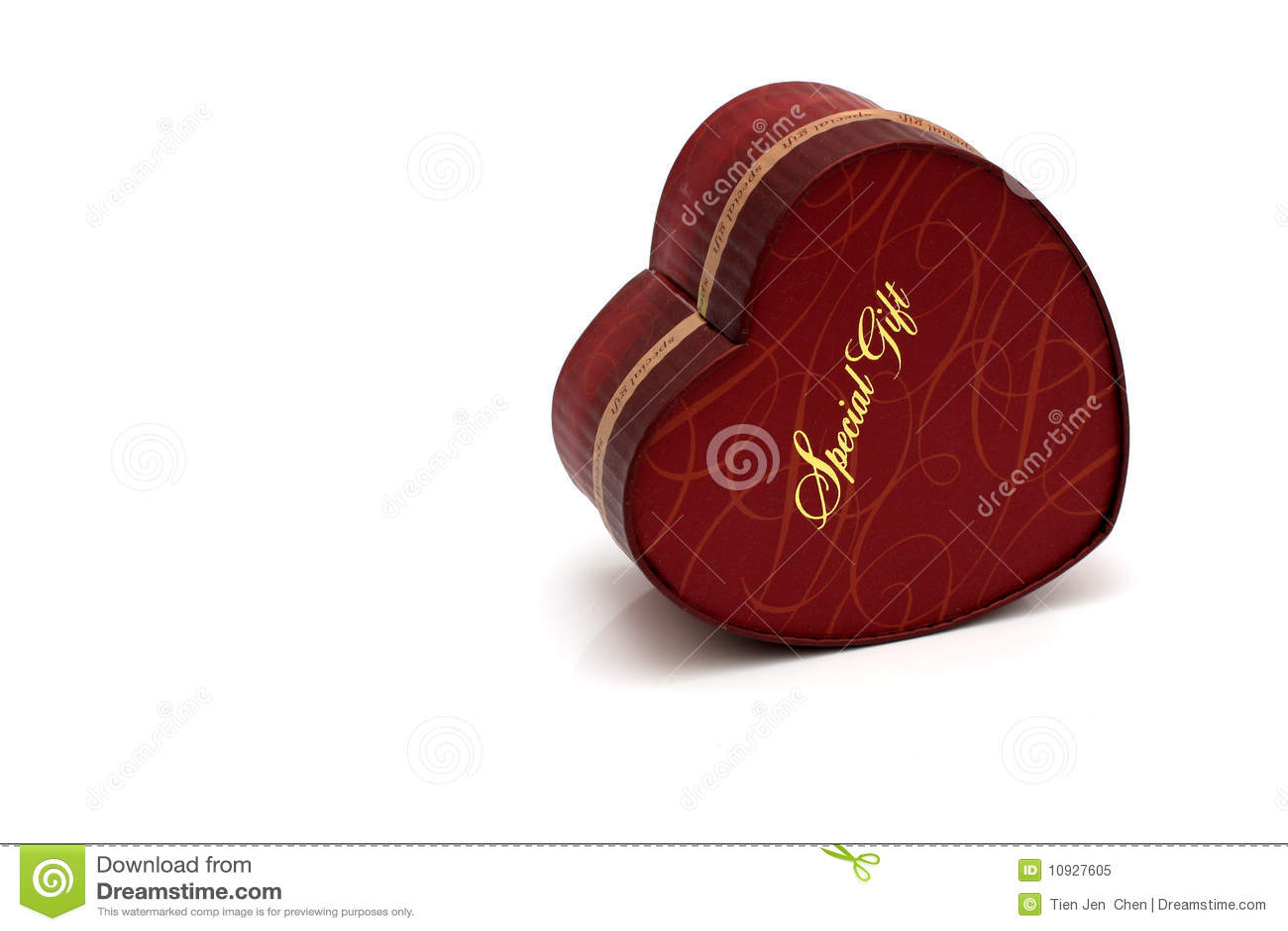 сформированный красный цвет сердца подарка коробки