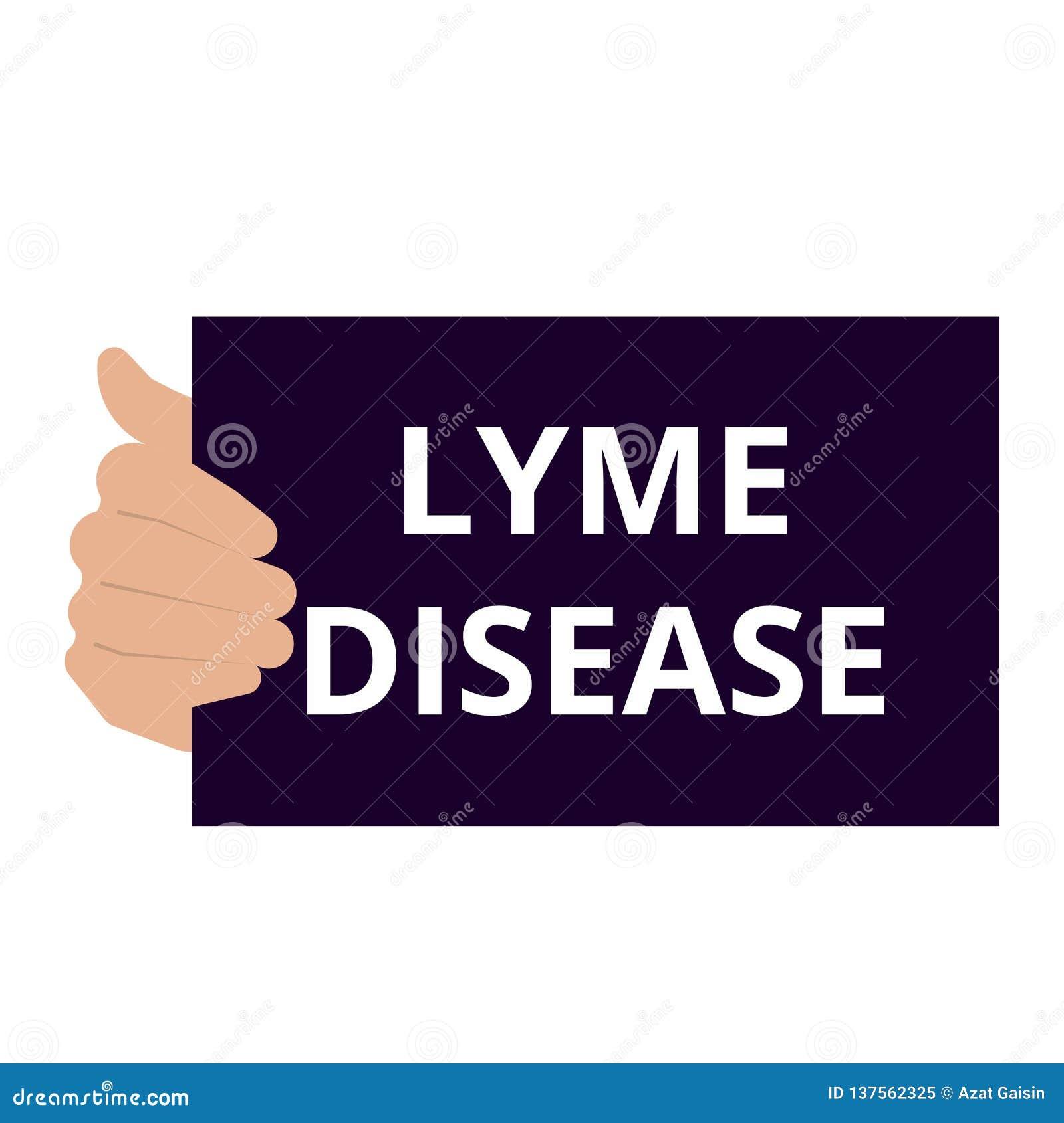 Схематическое писать показывая заболевание Lyme