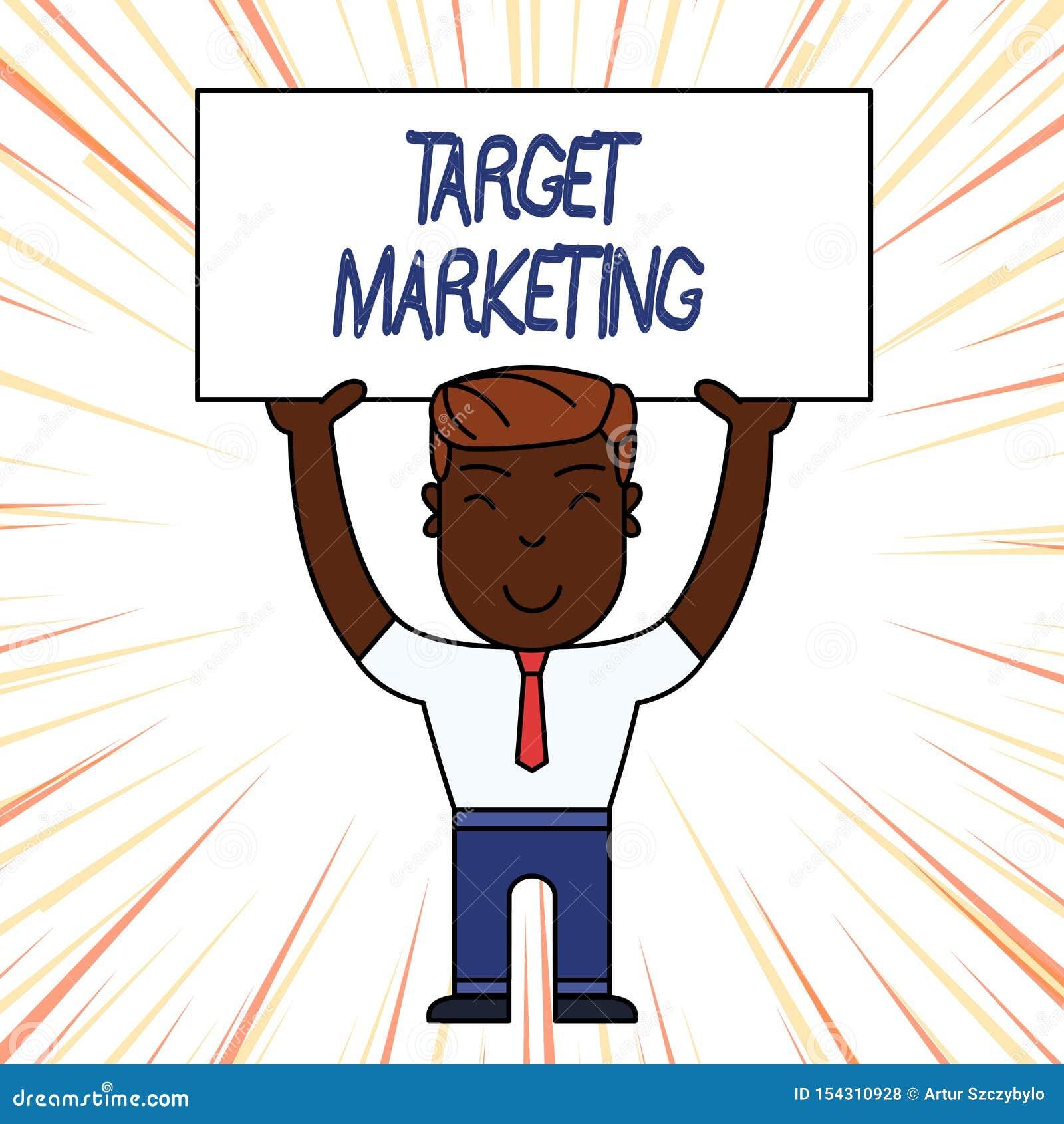 Схематическое сочинительство руки показывая целевой маркетинг Клиенты клиентов аудитории фото дела showcasing выбранные целью