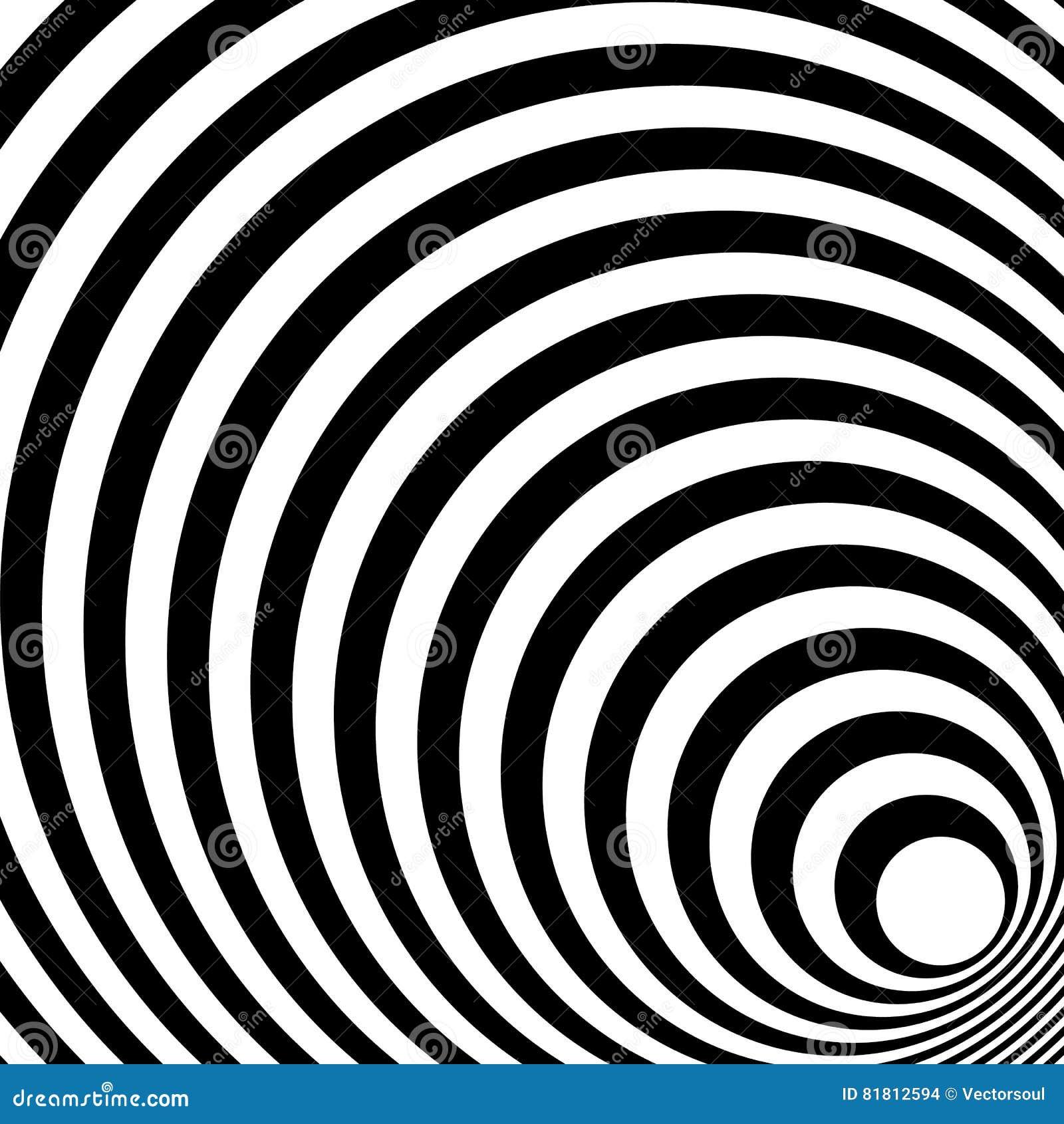 Сходиться, излучая выравнивает абстрактную monochrome картину в squar