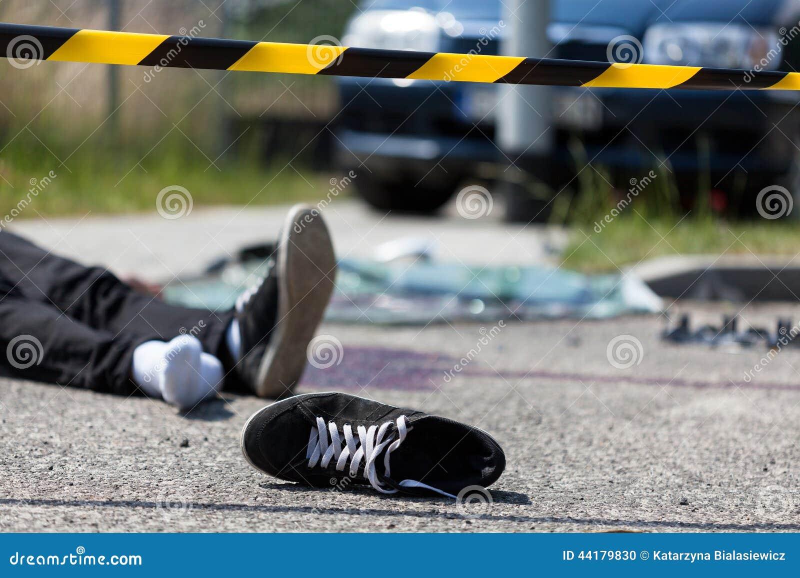 Сцена автокатастрофы