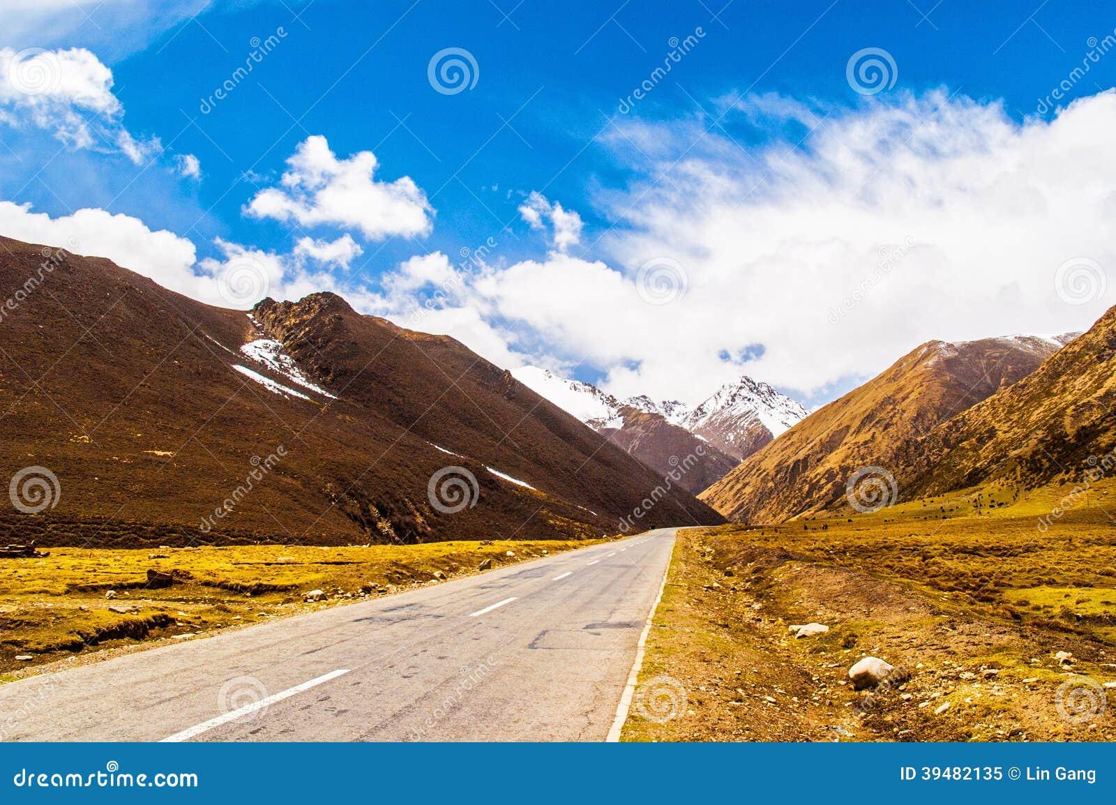 Сцена тибетского плато