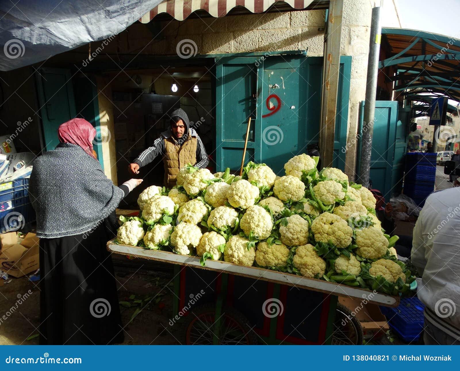 Сцена улицы Вифлеема, Палестины Израиля