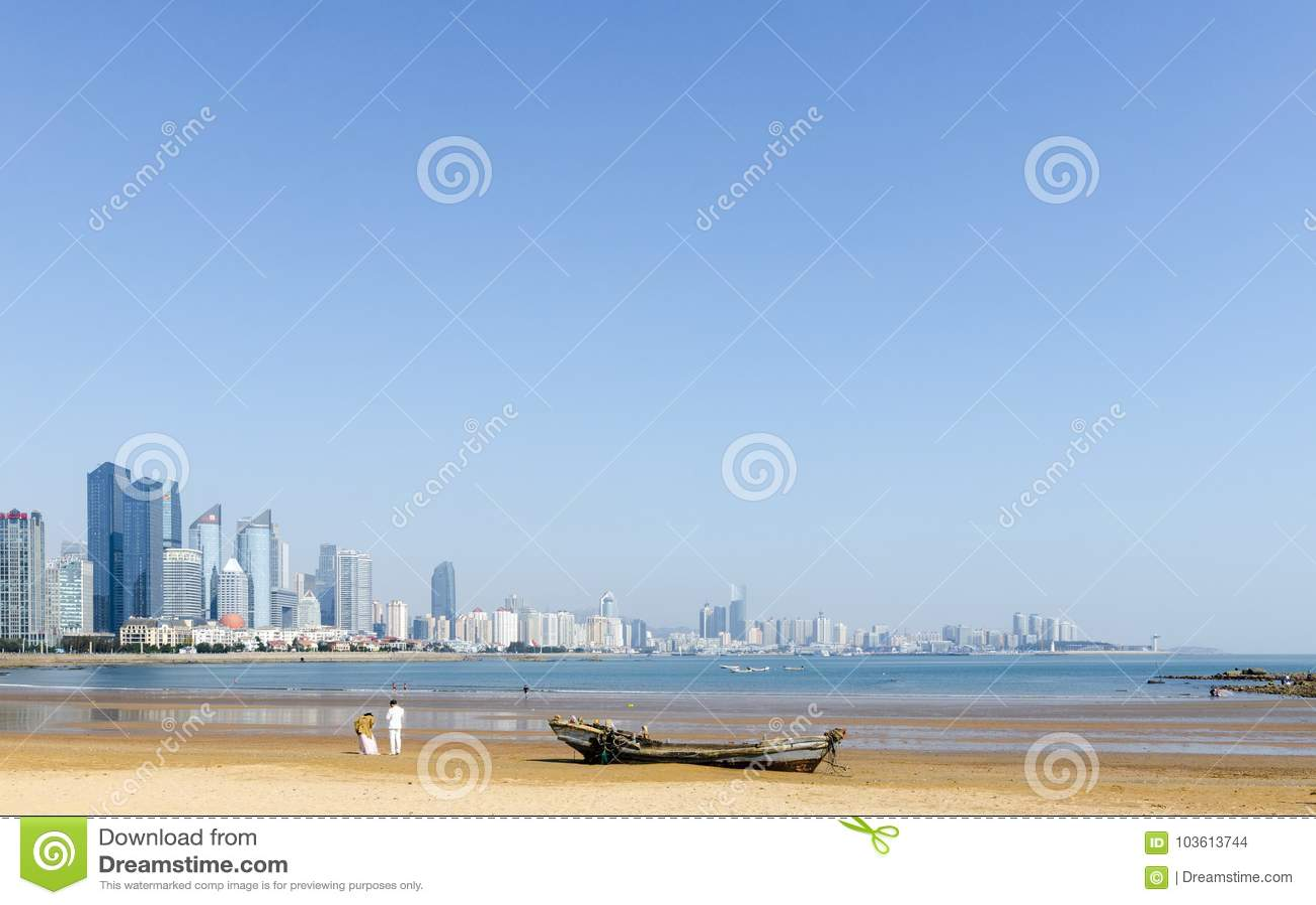 Сцены взморья Qingdao