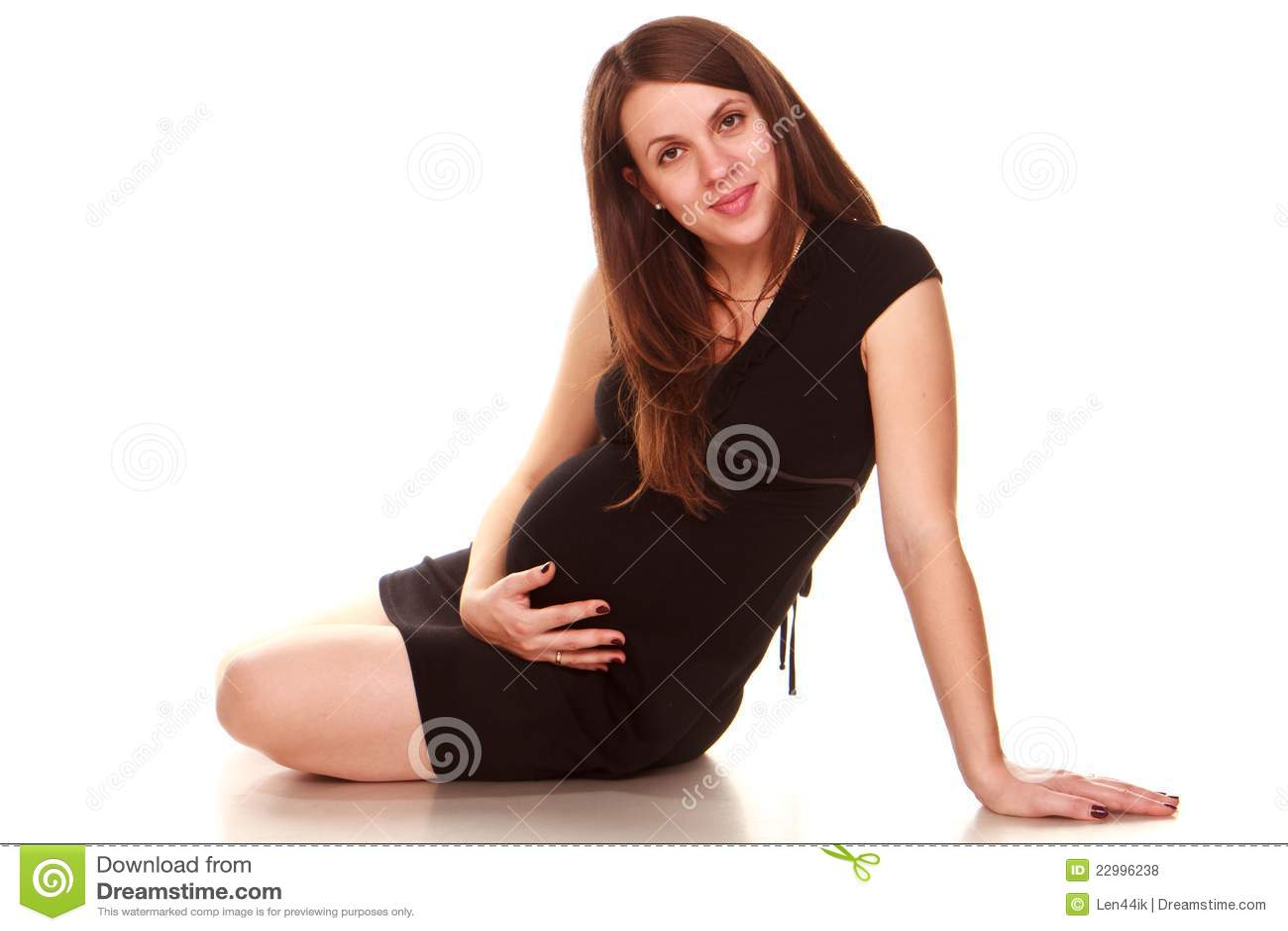 счастливая беременная женщина