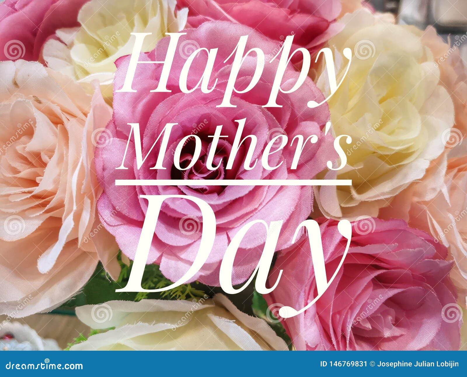 Счастливое желание Дня матери с красочной предпосылкой цветков