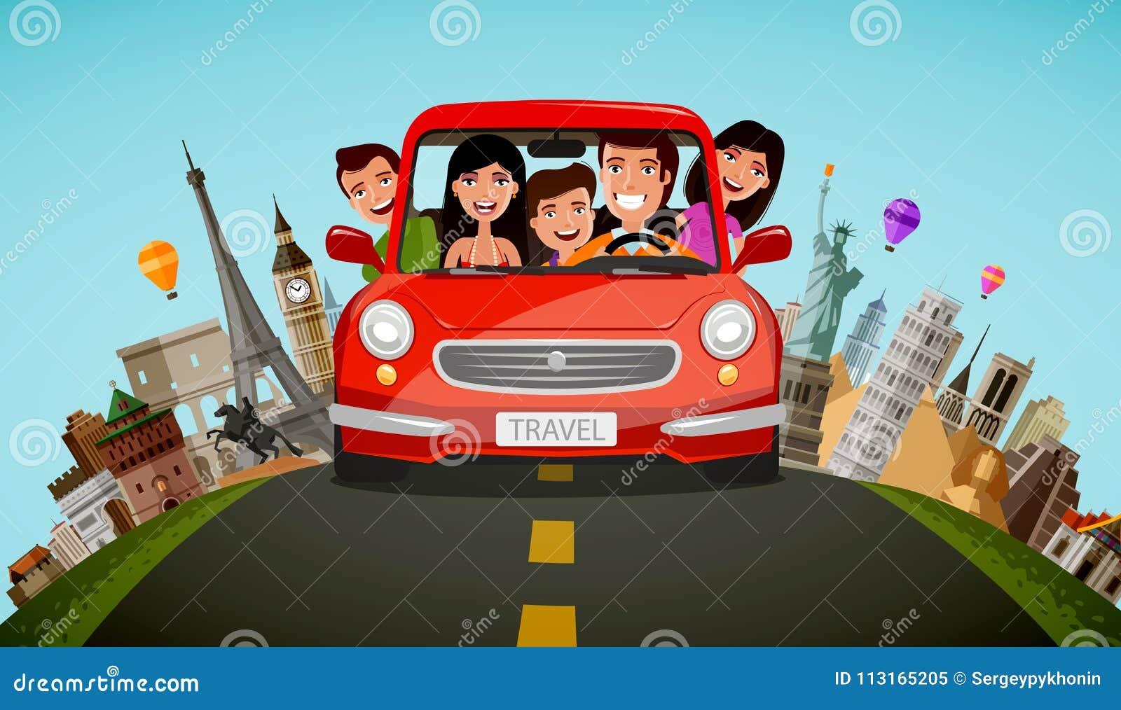 картинки семья едет на машине употребления