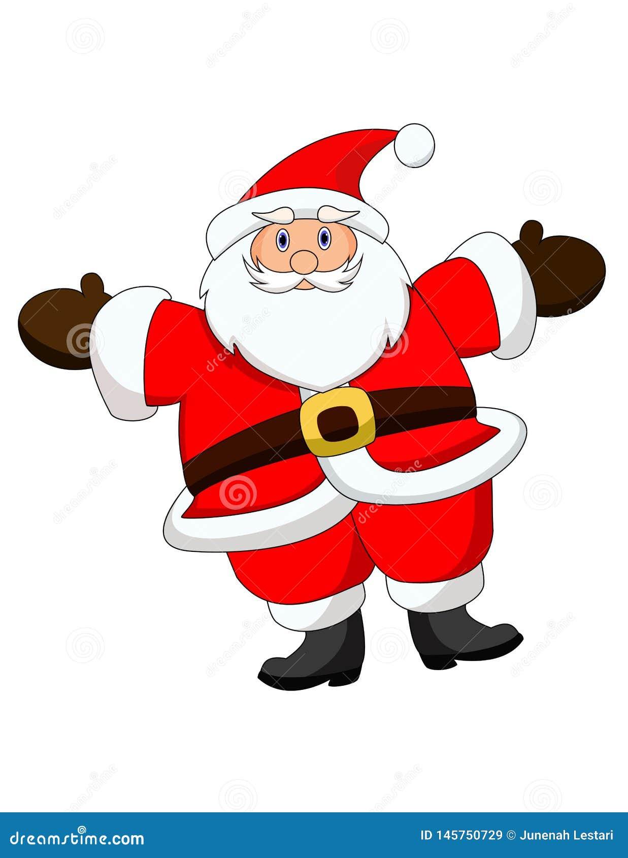 Счастливый Санта Клаус - характер стиля мультфильма