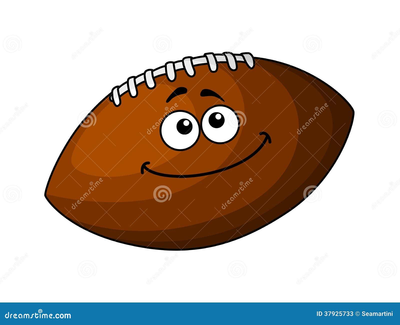 Счастливый шарик футбола или рэгби шаржа