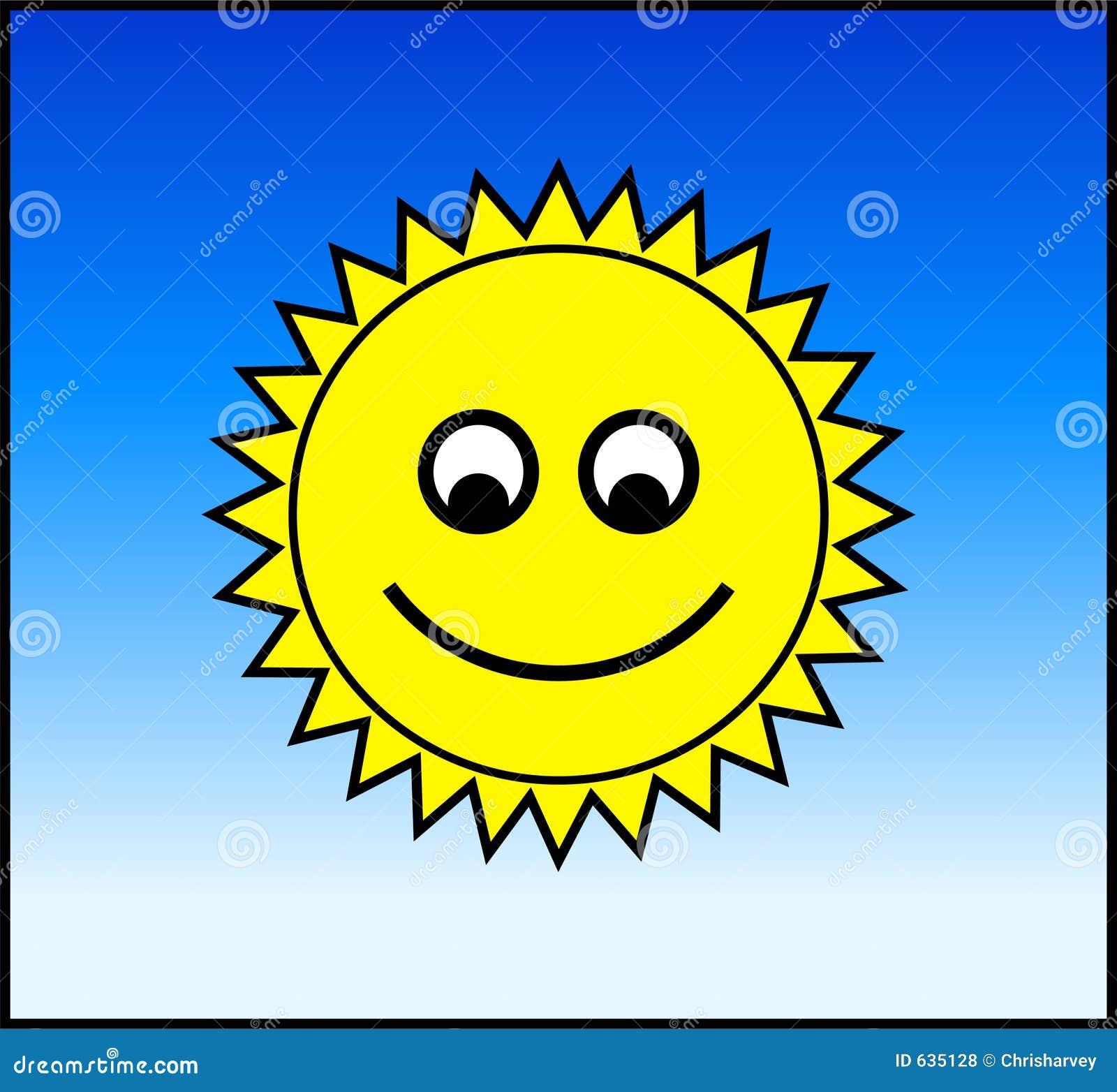 Download Счастливый Sun иллюстрация штока. иллюстрации насчитывающей daytime - 635128