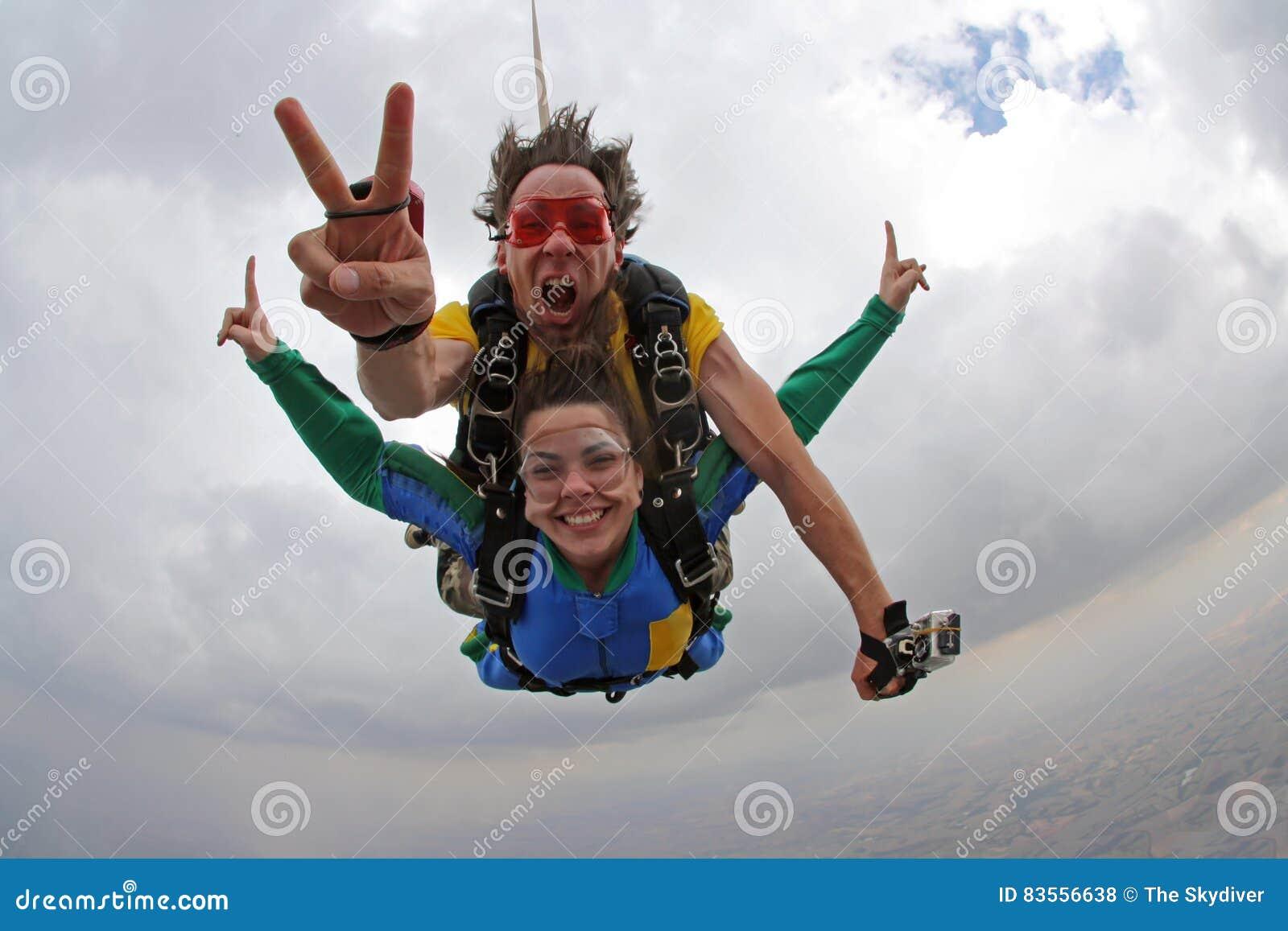 Счастье тандема Skydiving