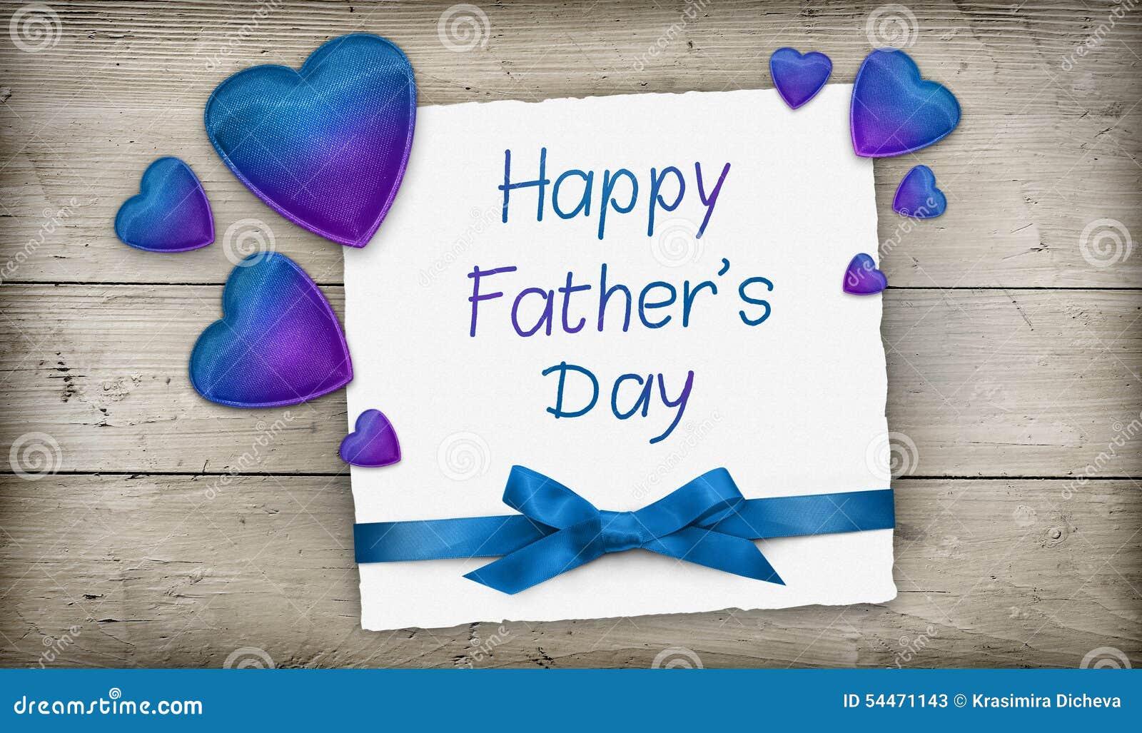 Счастливая поздравительная открытка Дня отца