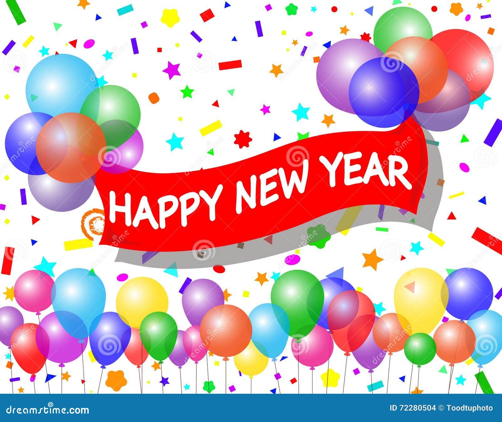 Download счастливое Новый Год иллюстрация вектора. иллюстрации насчитывающей цветасто - 72280504