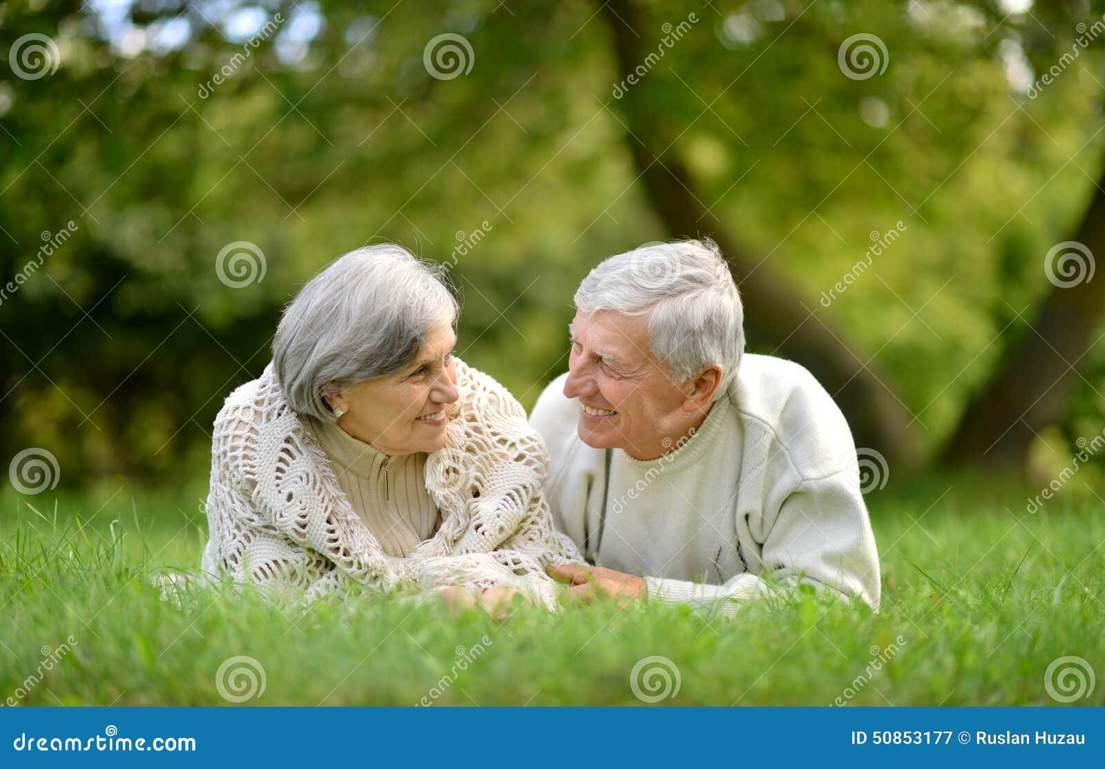 счастливое пар пожилое