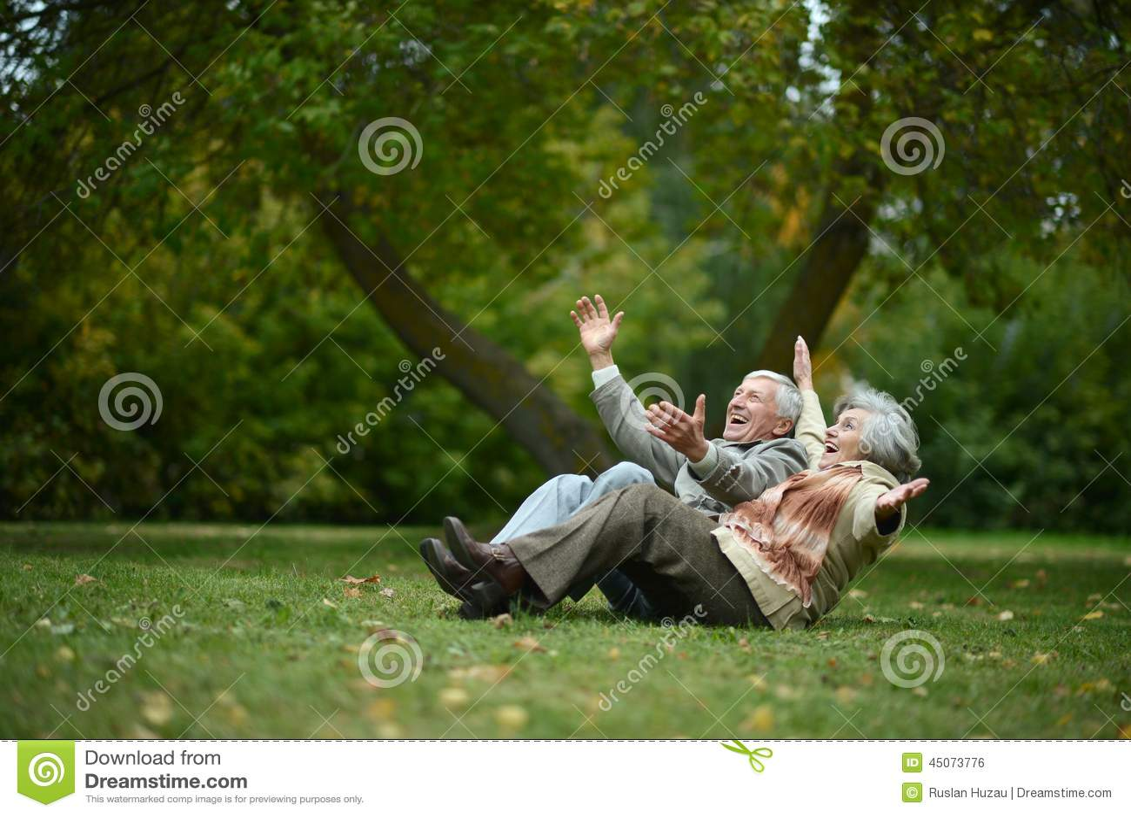 счастливое старые люди