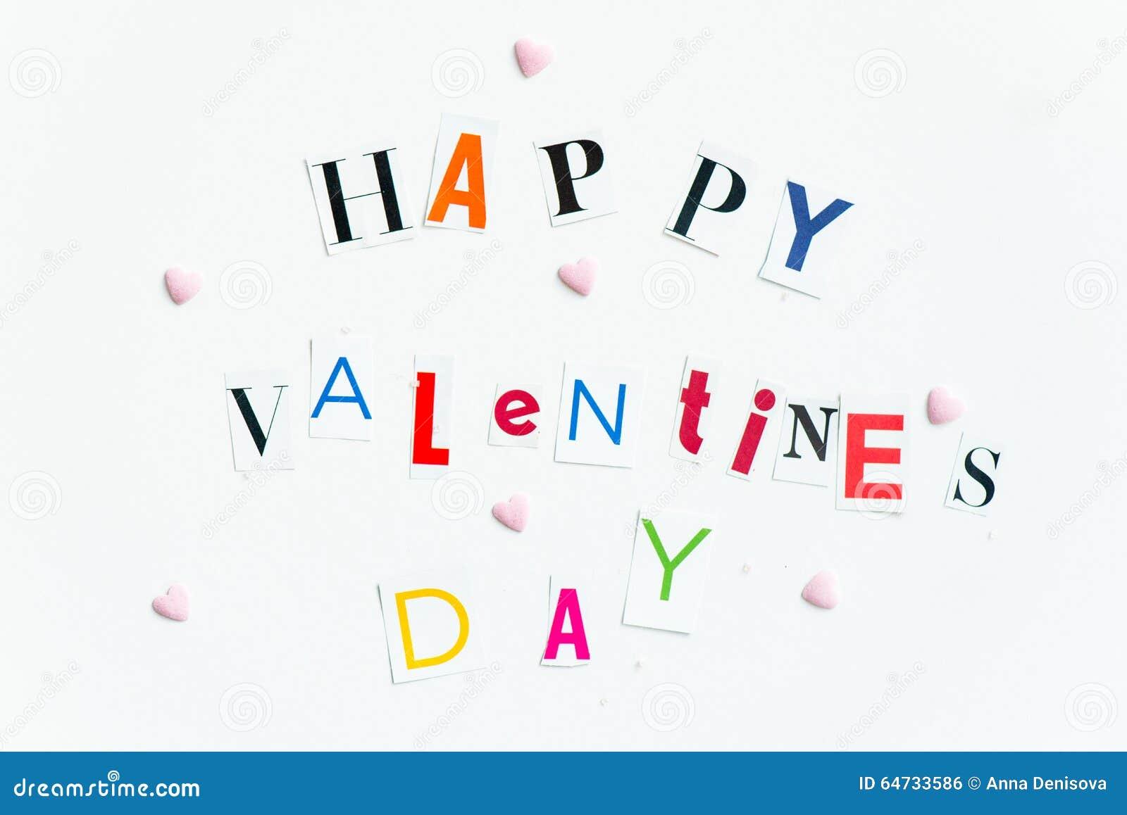 Счастливые письма дня валентинок отрезали вне от кассет