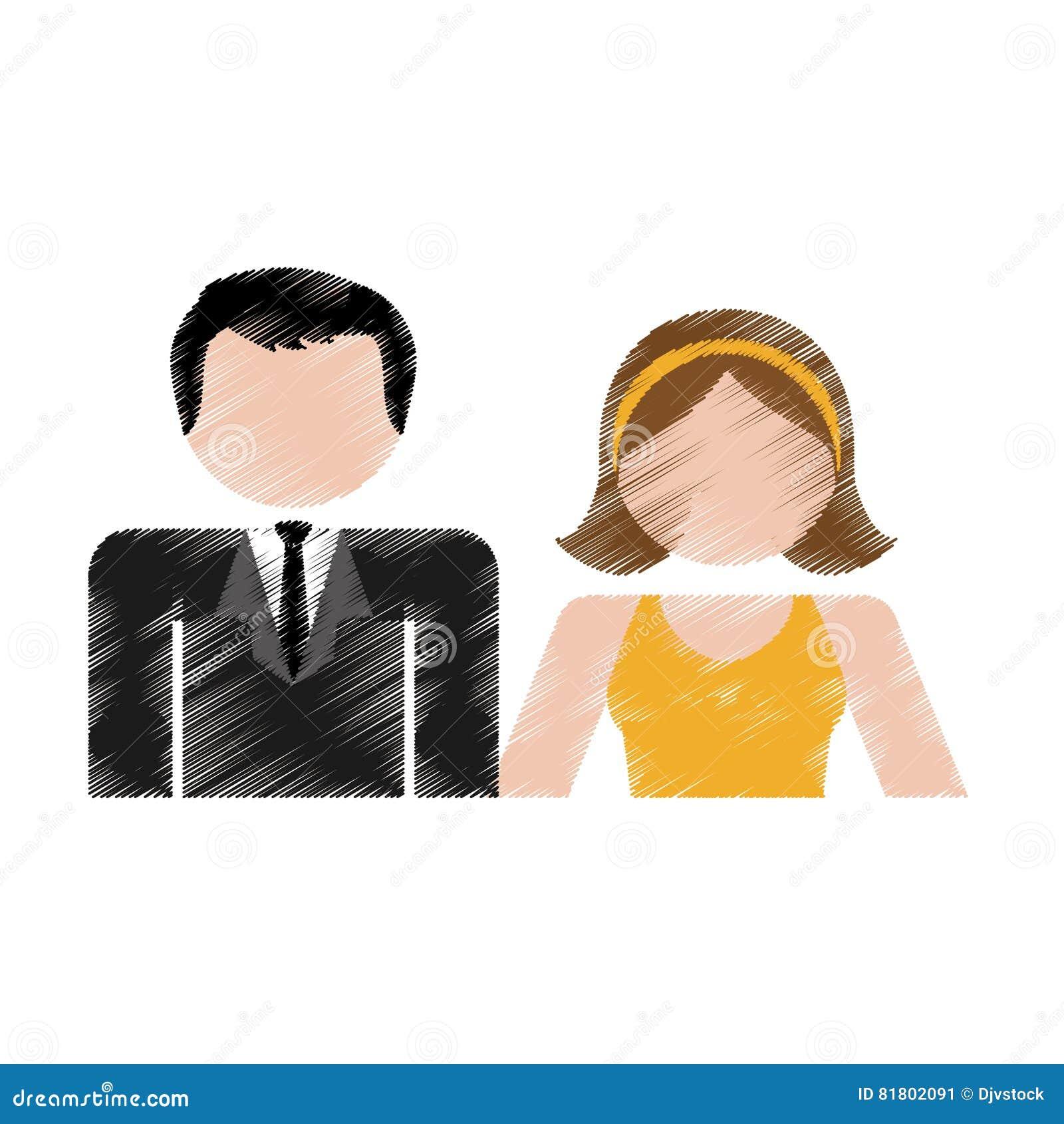 Счастливый дизайн пар