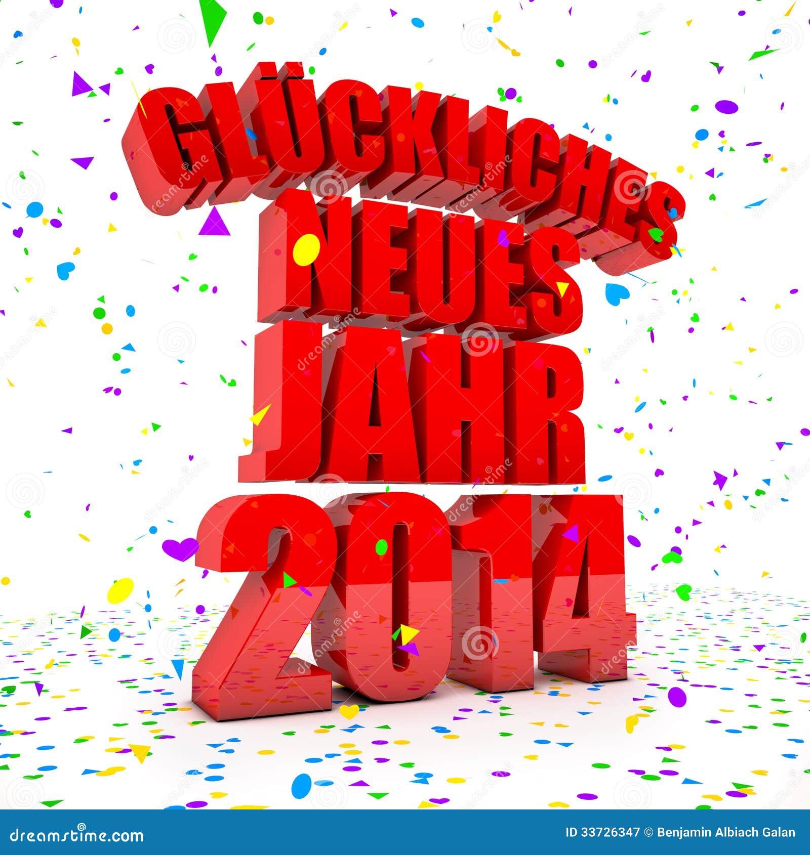 Счастливый Новый Год 2014 в немецких языках