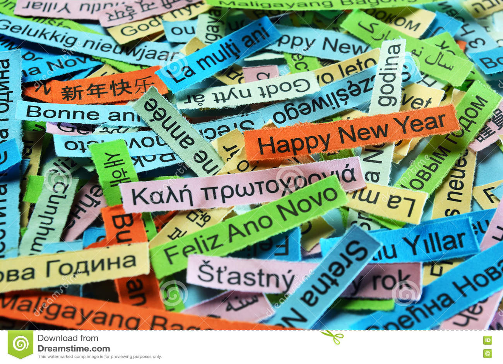 Счастливый Новый Год на различных языках