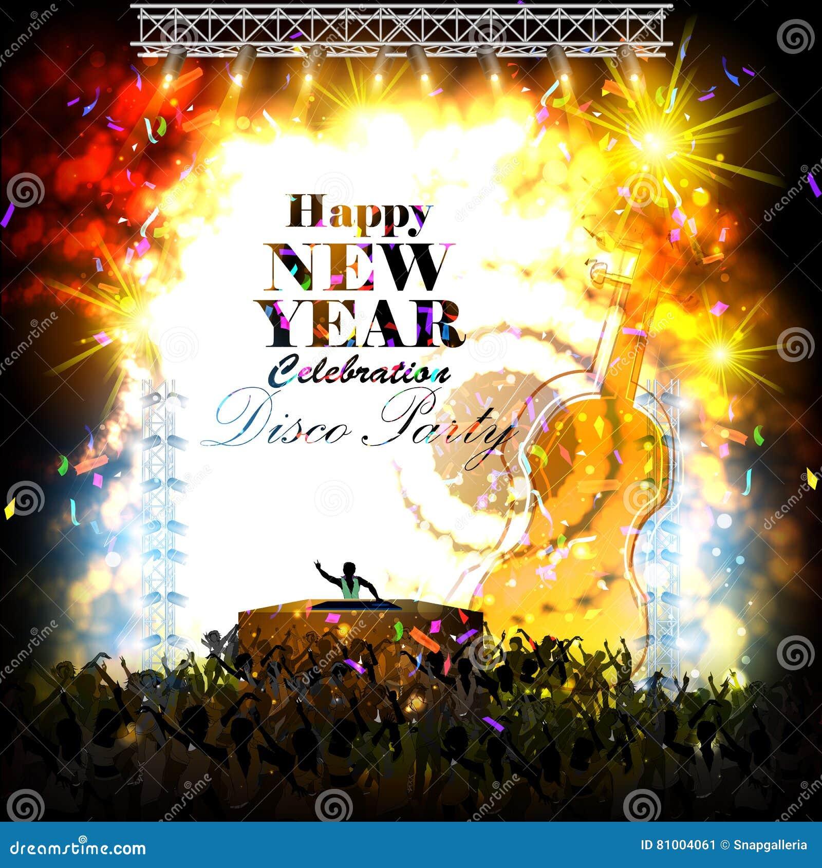 Счастливый плакат торжества партии Нового Года 2017