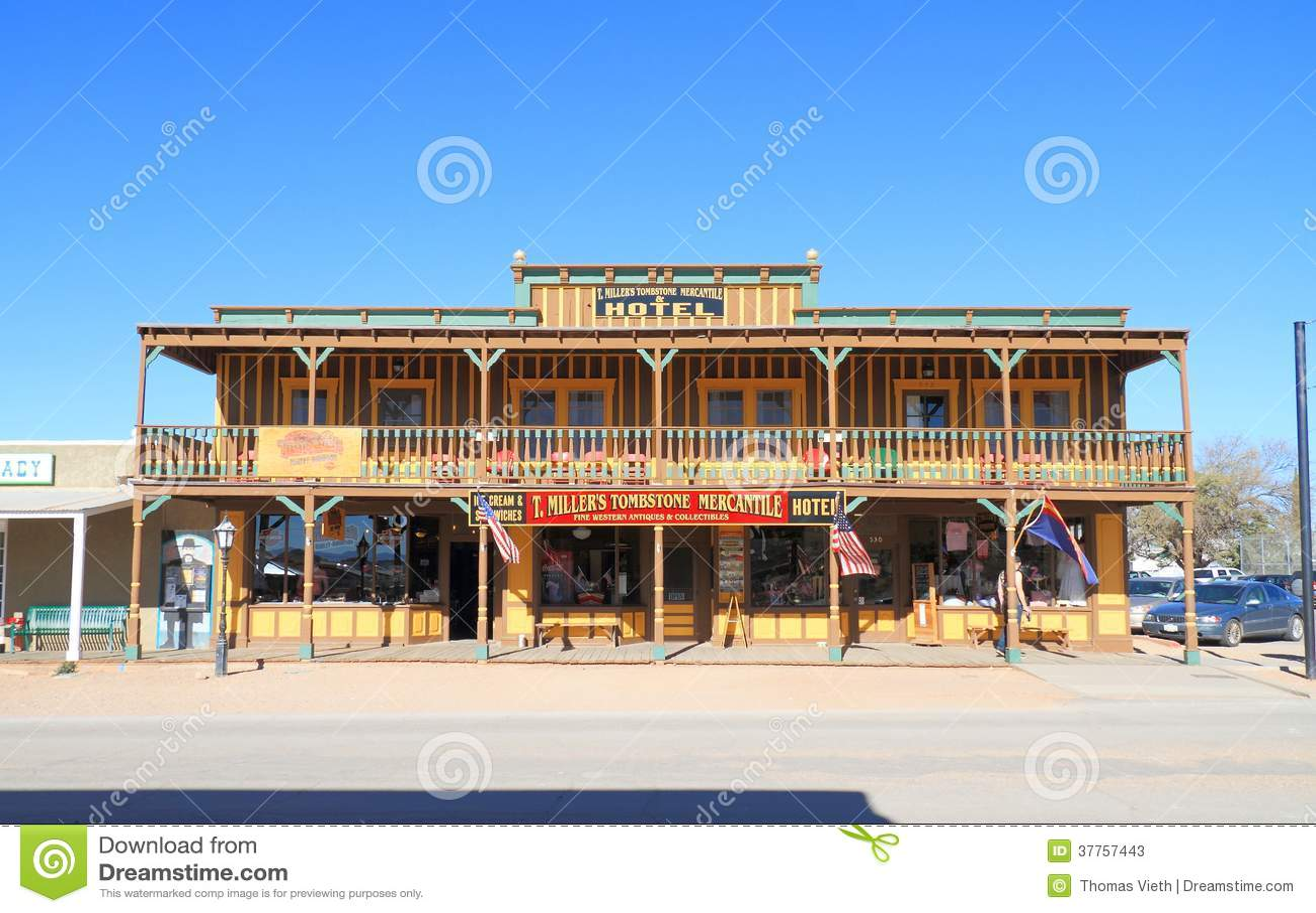 США, Аризона/надгробная плита: Исторические гостиница и магазин