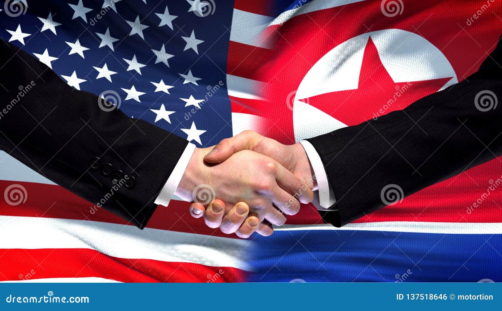 США и рукопожатие Корейской Северной Кореи, международная предпосылка флага приятельства, финансы