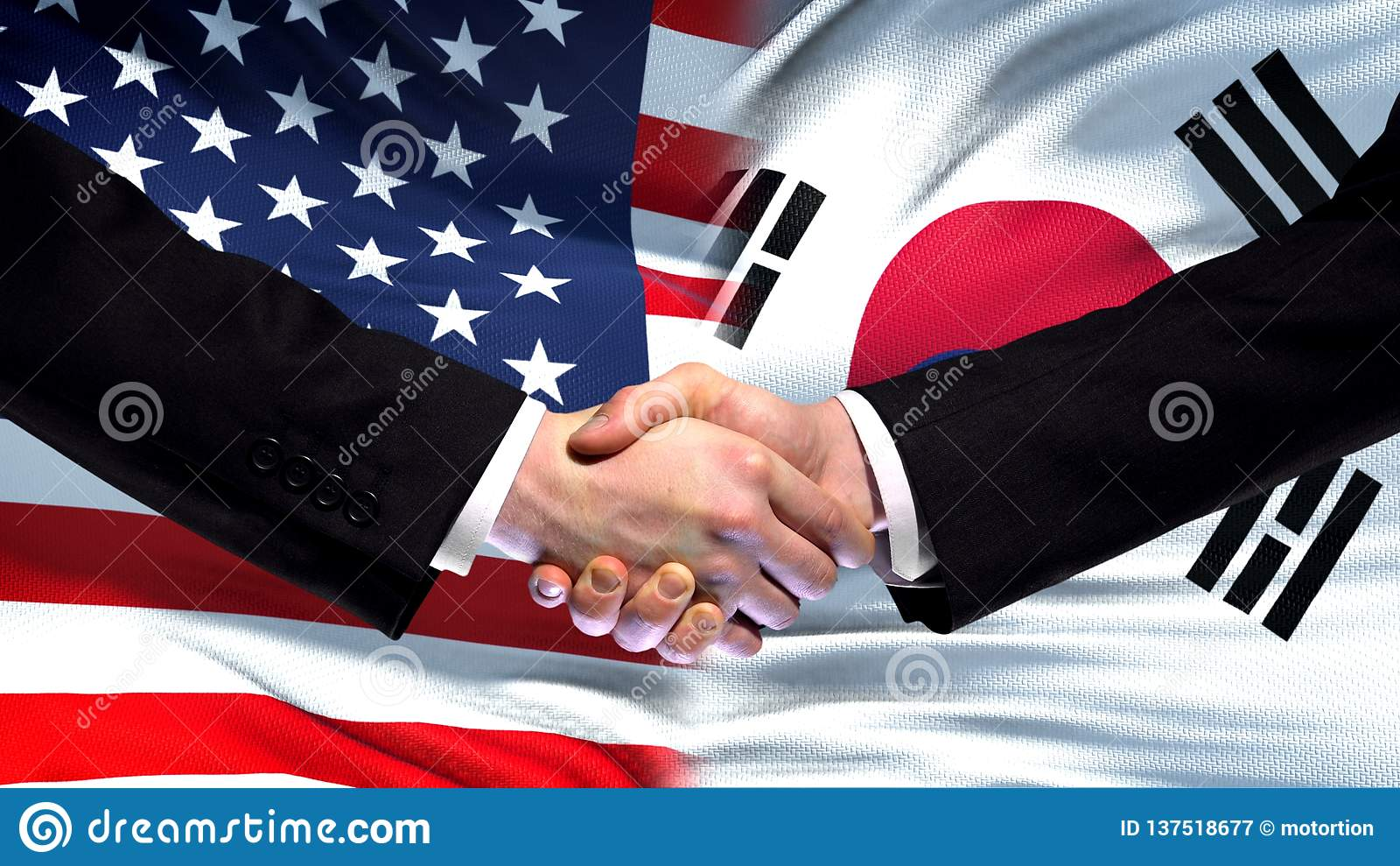 США и рукопожатие Южной Кореи, международная предпосылка флага приятельства, финансы