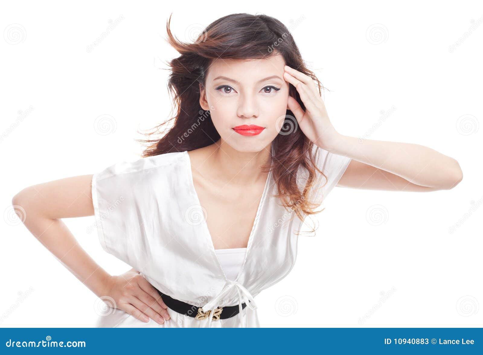 съемка азиатского способа красотки женская модельная