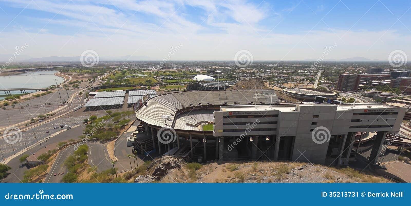 Съемка Sun Devil Stadium, Tempe, Аризона