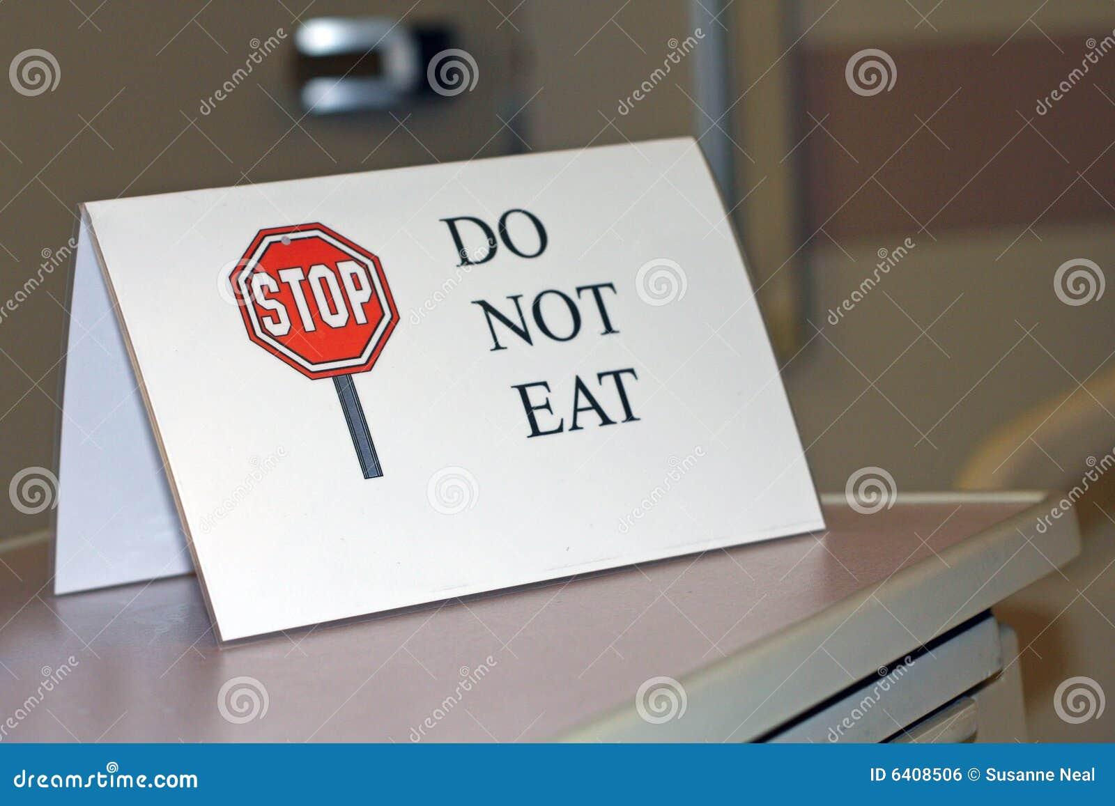 съешьте не говорит знак