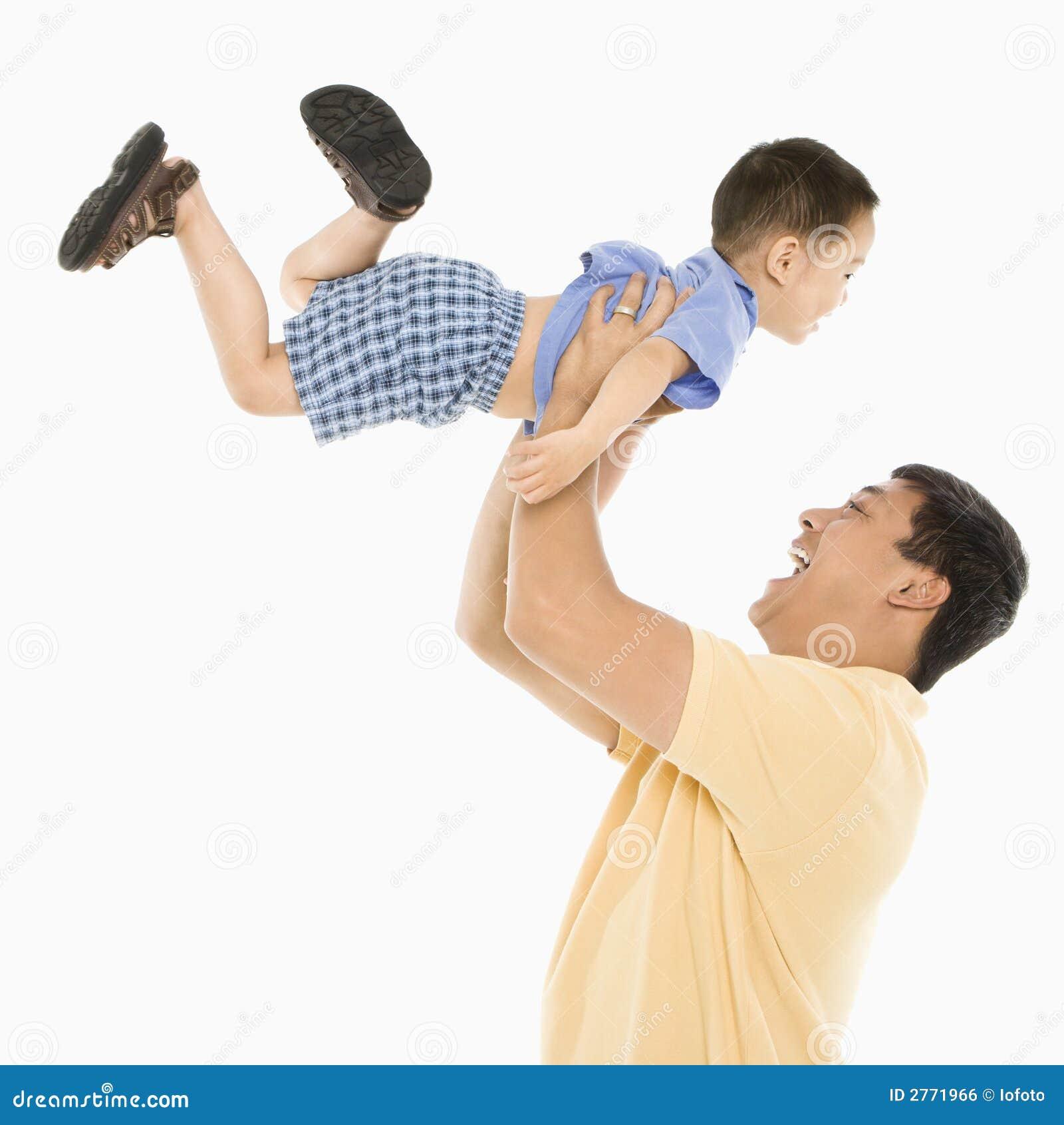 сынок отца поднимаясь