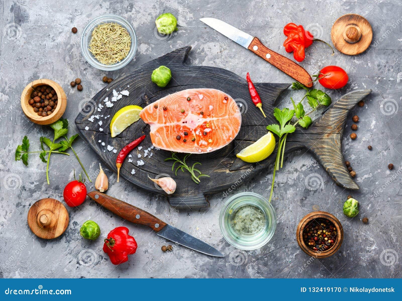 1 сырцовый salmon стейк