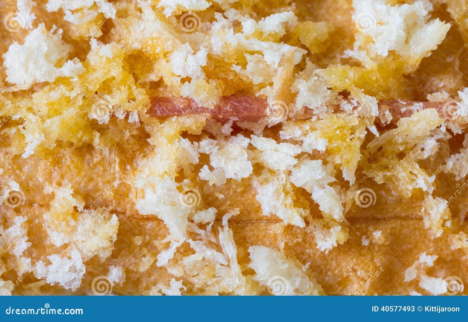 Сыр ветчины сандвича макроса кудрявый