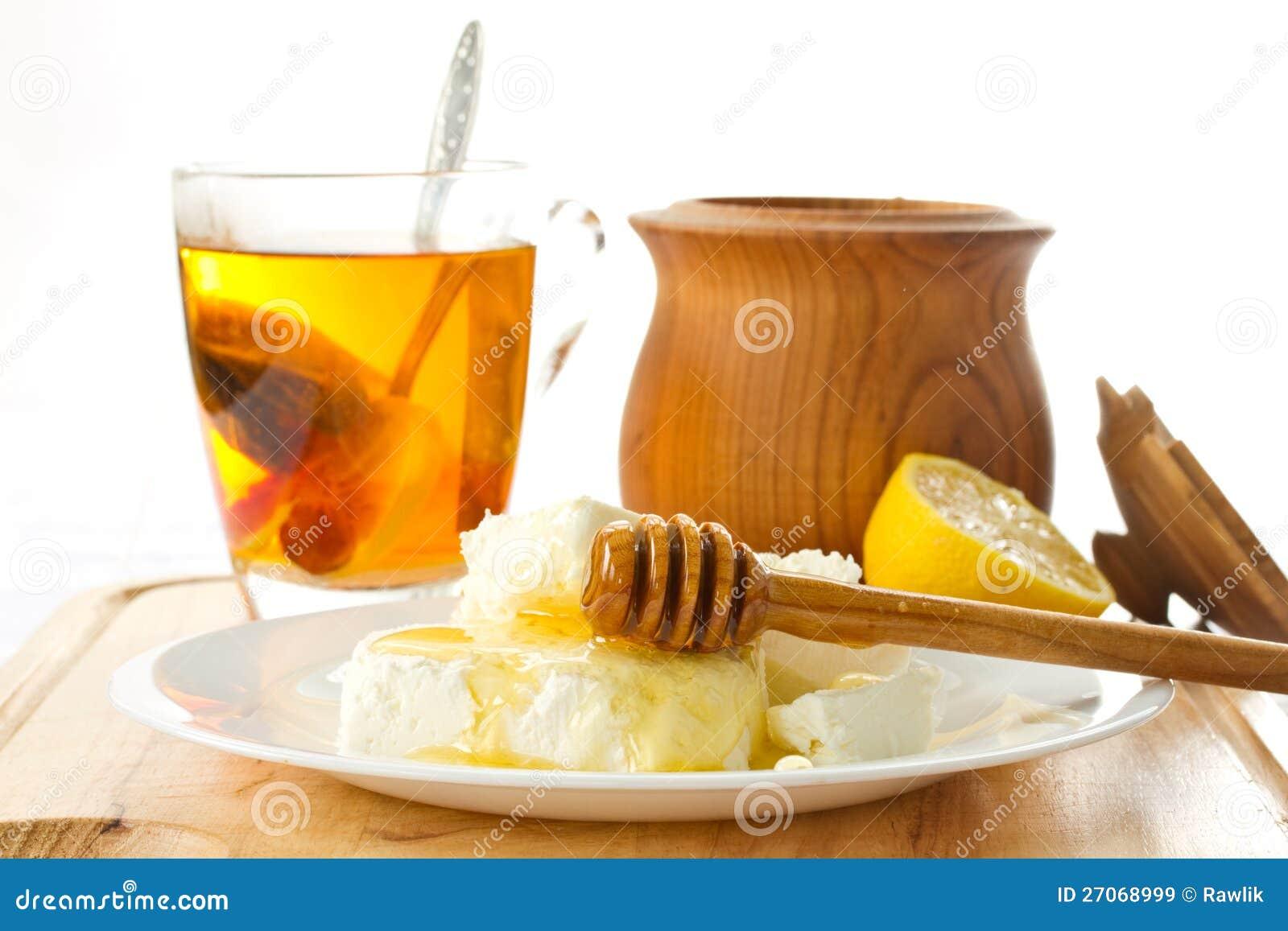 Сыр коттеджа молока с медом